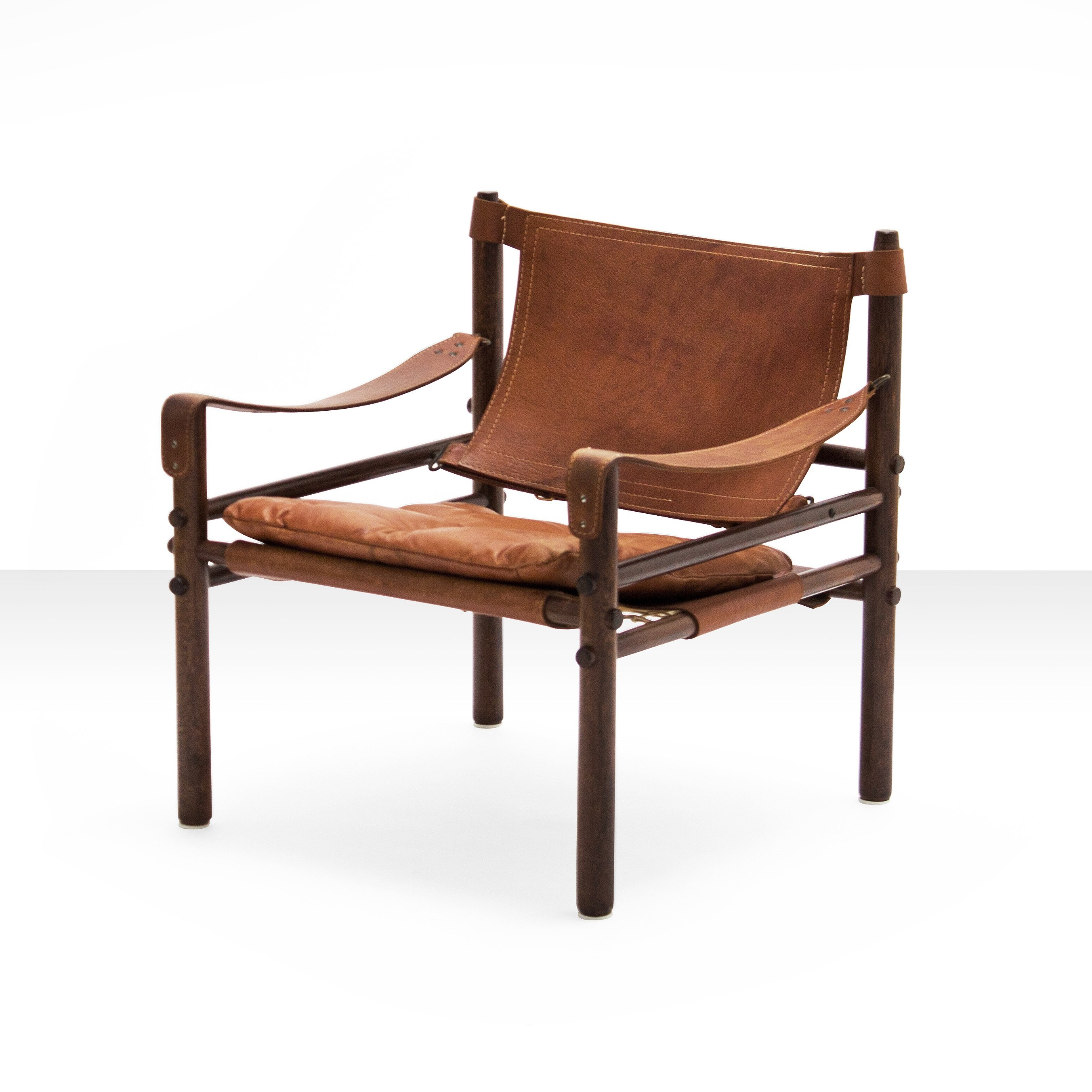 chair cognac leather lounge kurt