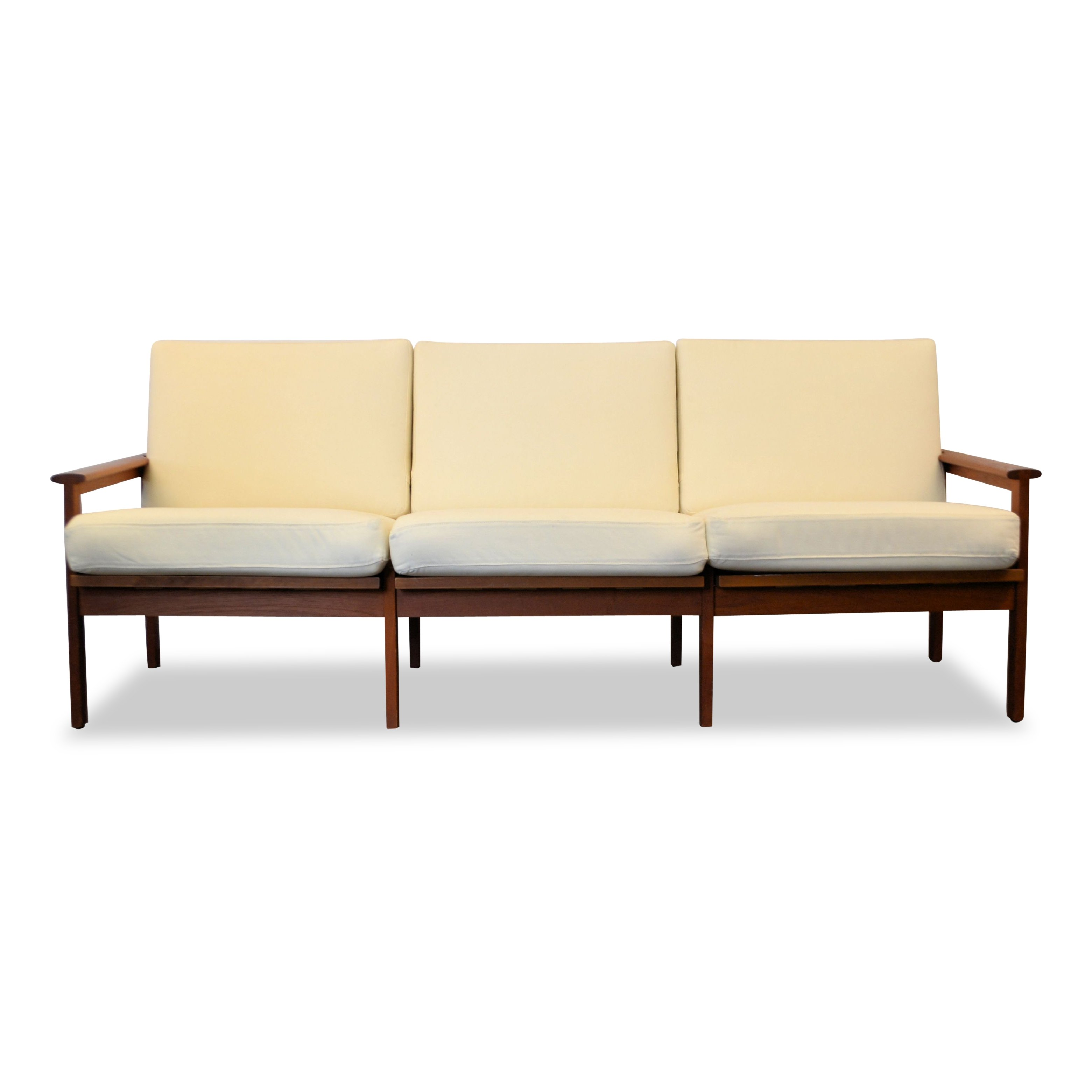 vintage danish design illum wikkelso 39 capella 39 3 seating teak sofa 78557. Black Bedroom Furniture Sets. Home Design Ideas