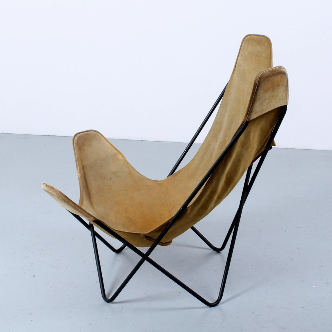 Butterfly sling chair by Jorge Ferrari Hardoy for Knoll, 1950s | #78624