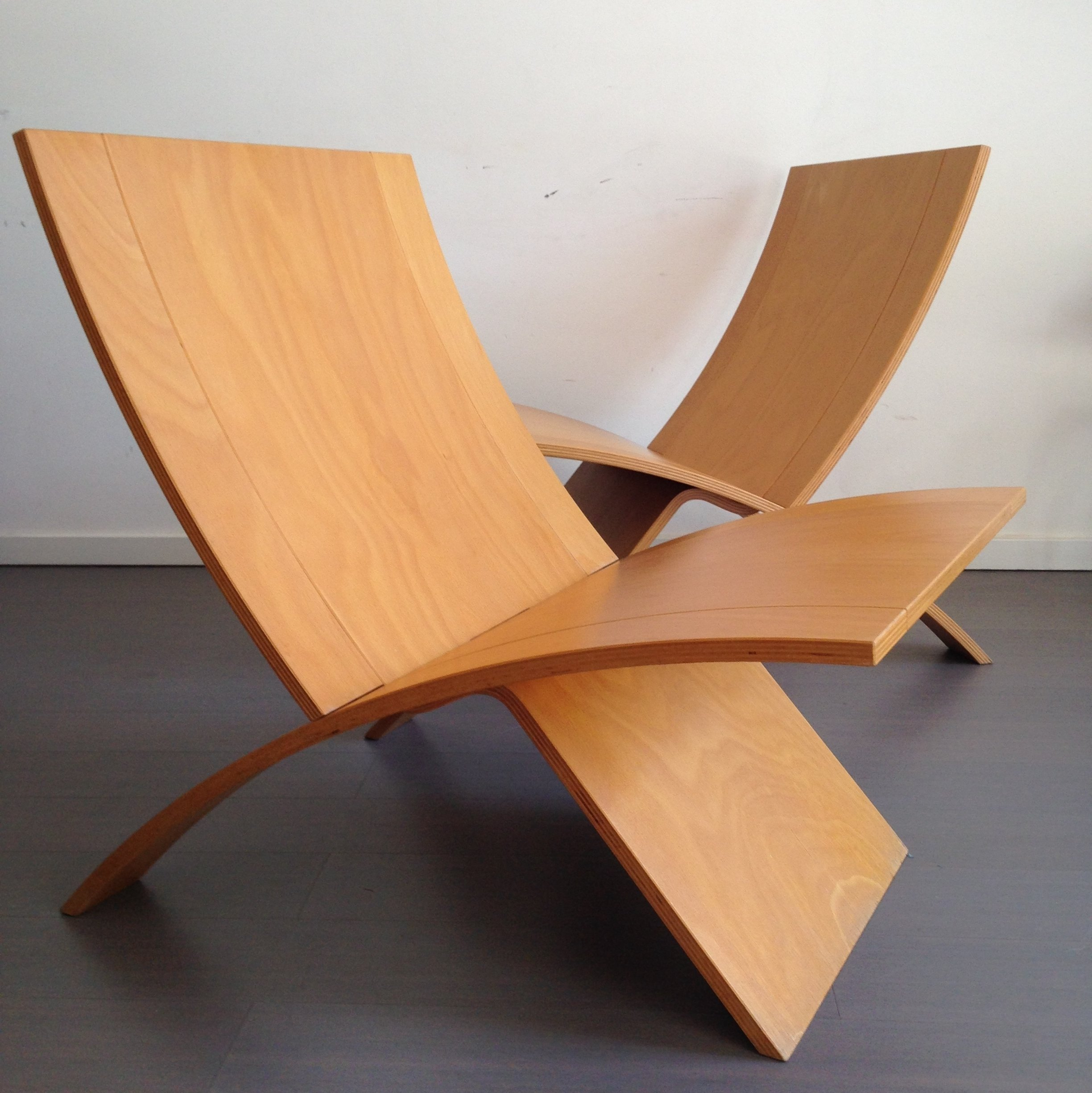 Pair Of Laminex Lounge Chairs By Jens Nielsen For Westnofa