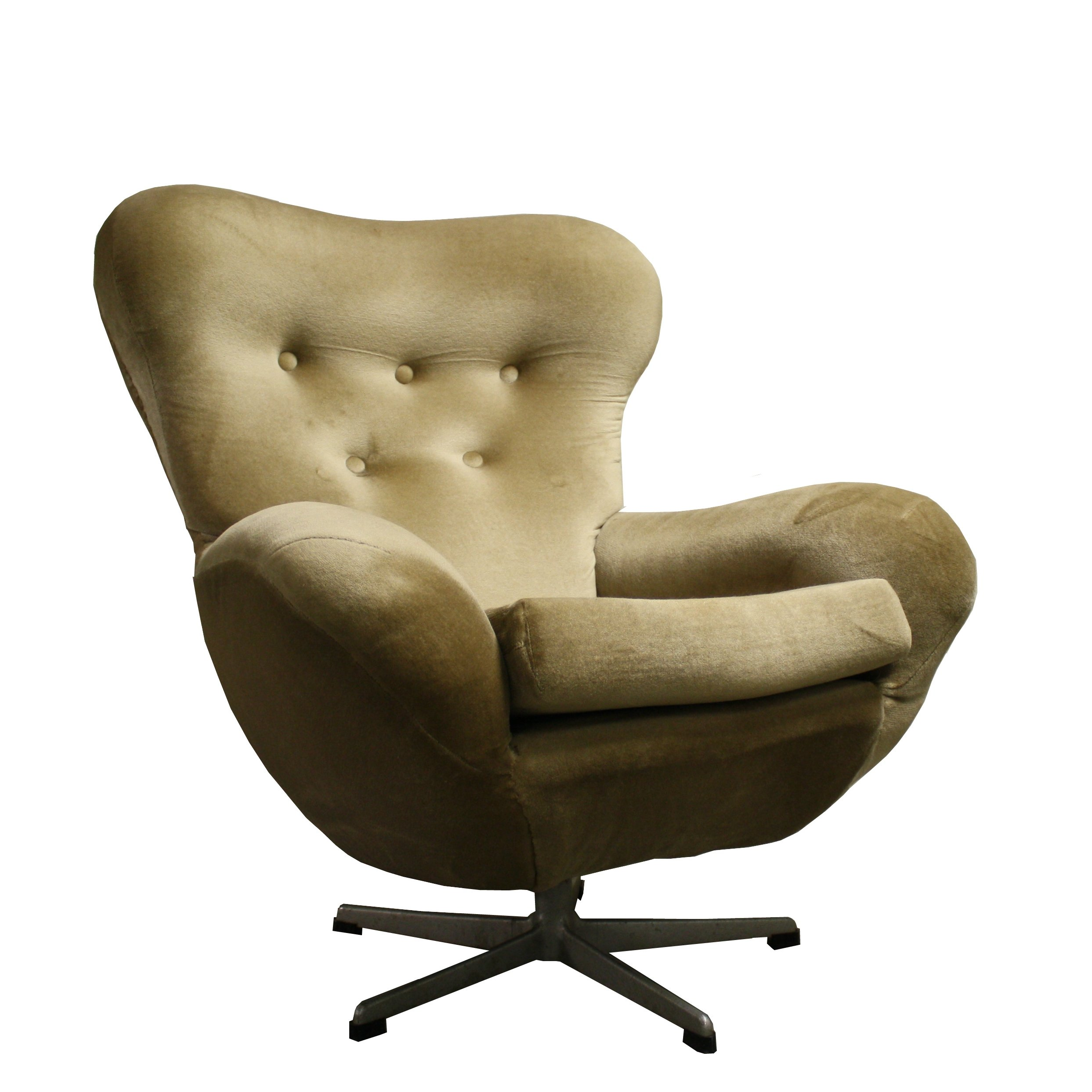 Image of: Mid Century Modern Design Egg Swivel Chair 1960 S 78973