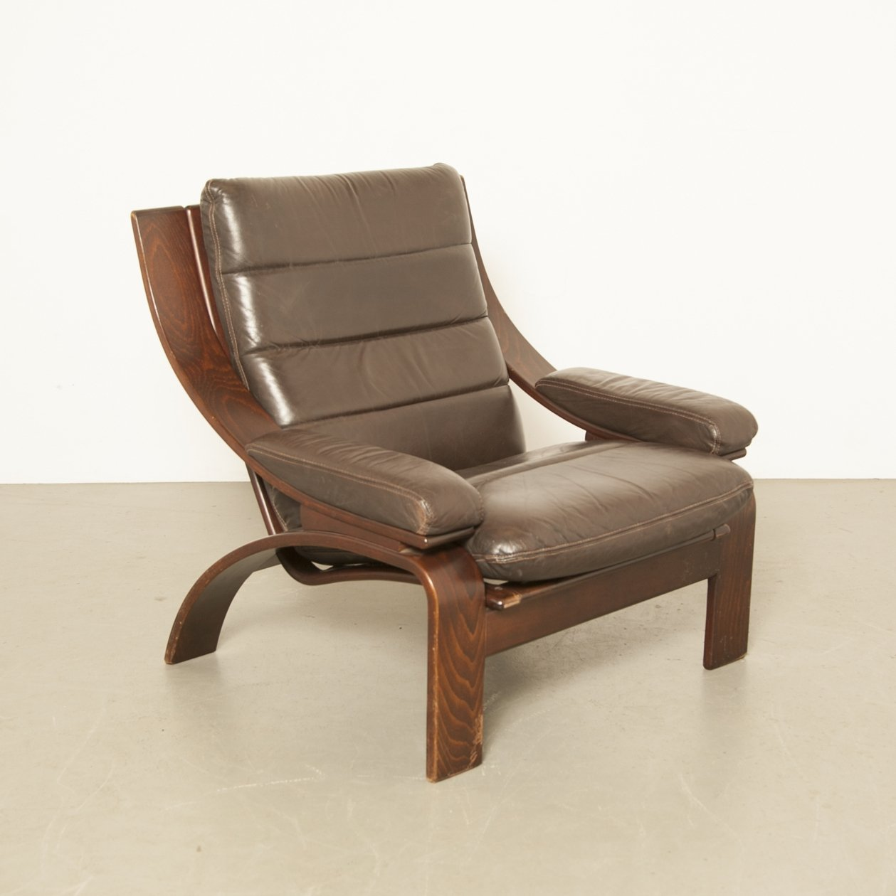 Superb Low Model Danish Armchair By Coja