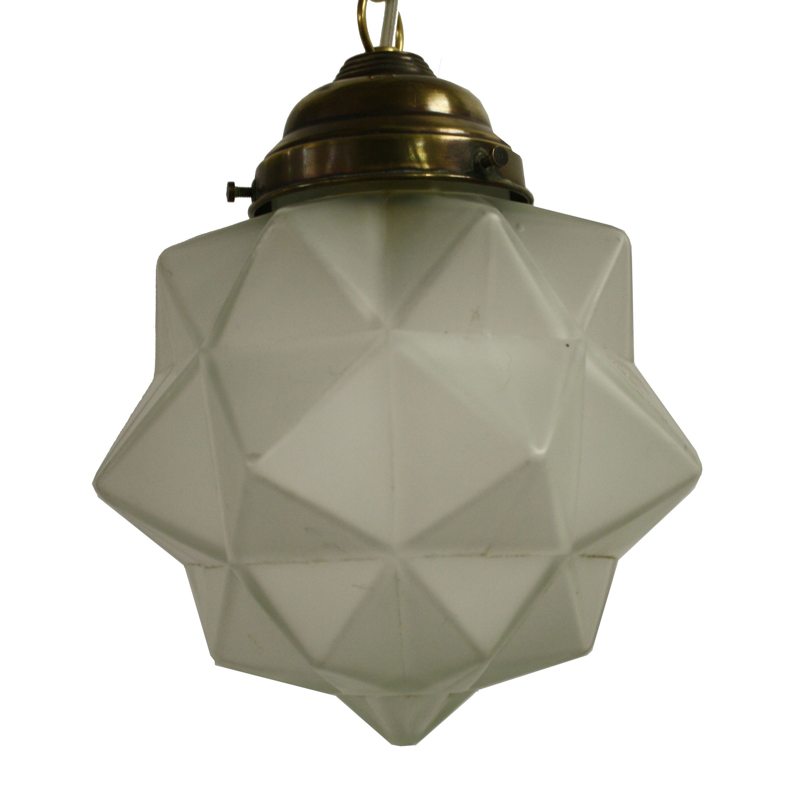 Small Art Deco Starburst Pendant Light 1930s