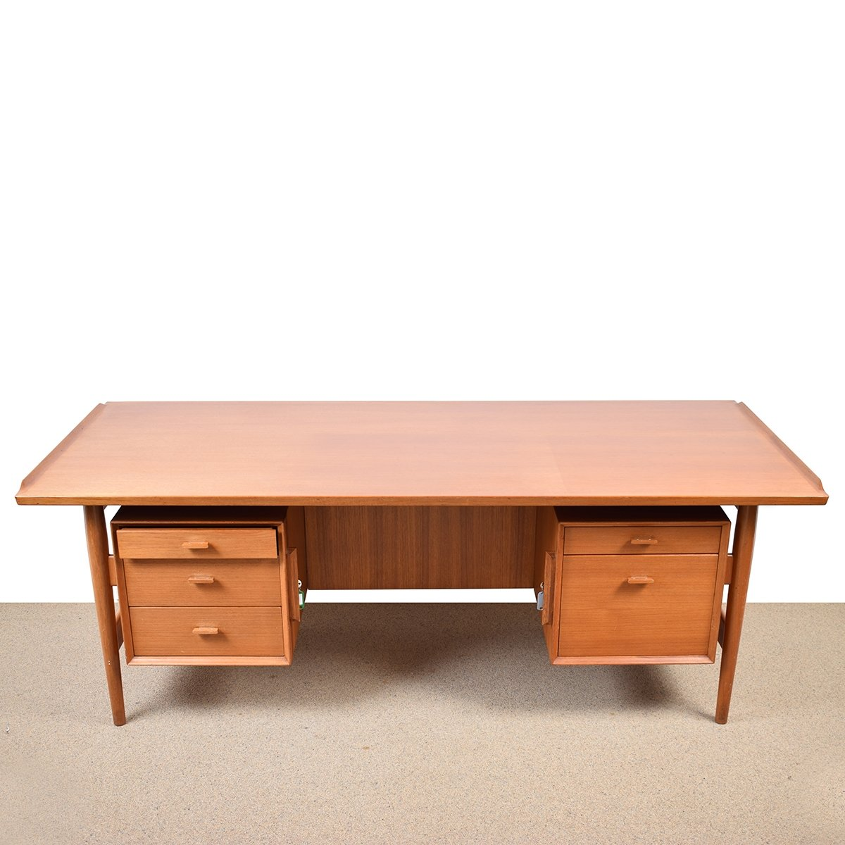 front tables mid viyet desk designer century tab modern teak danish furniture