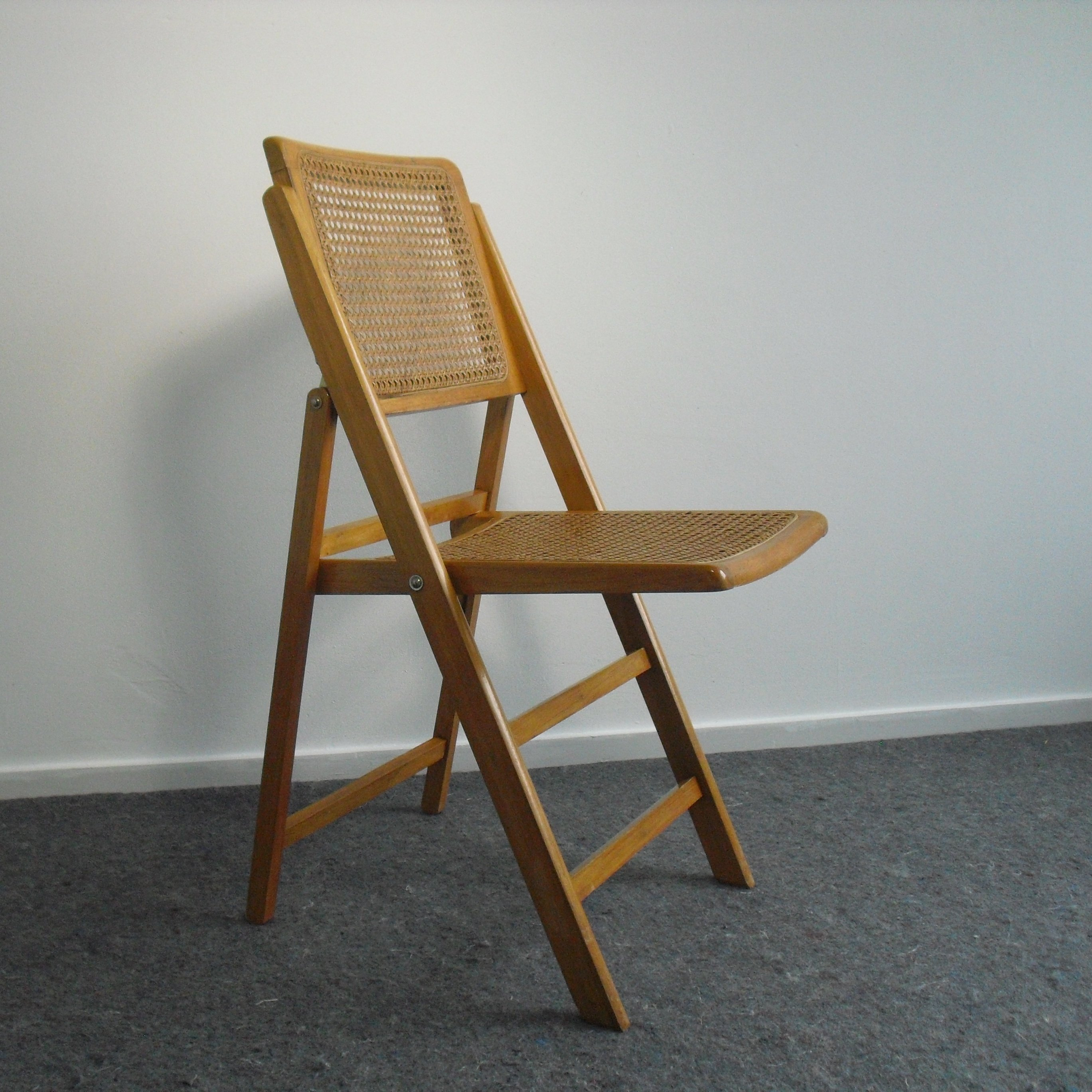 Awesome Vintage Cane Folding Chair 1960S 79334 Short Links Chair Design For Home Short Linksinfo
