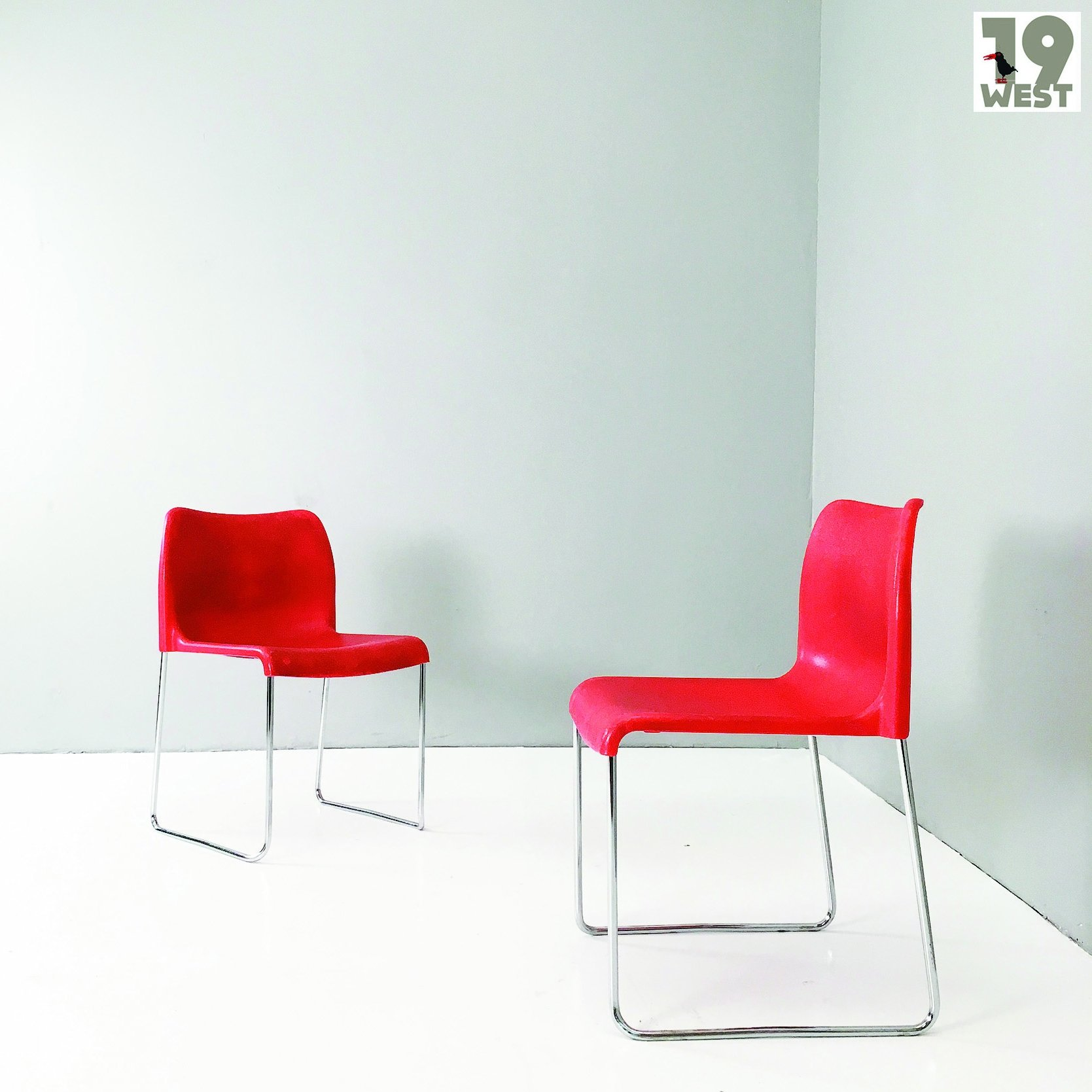 Two German stacking chairs from the 1960\'s by Kusch & Co