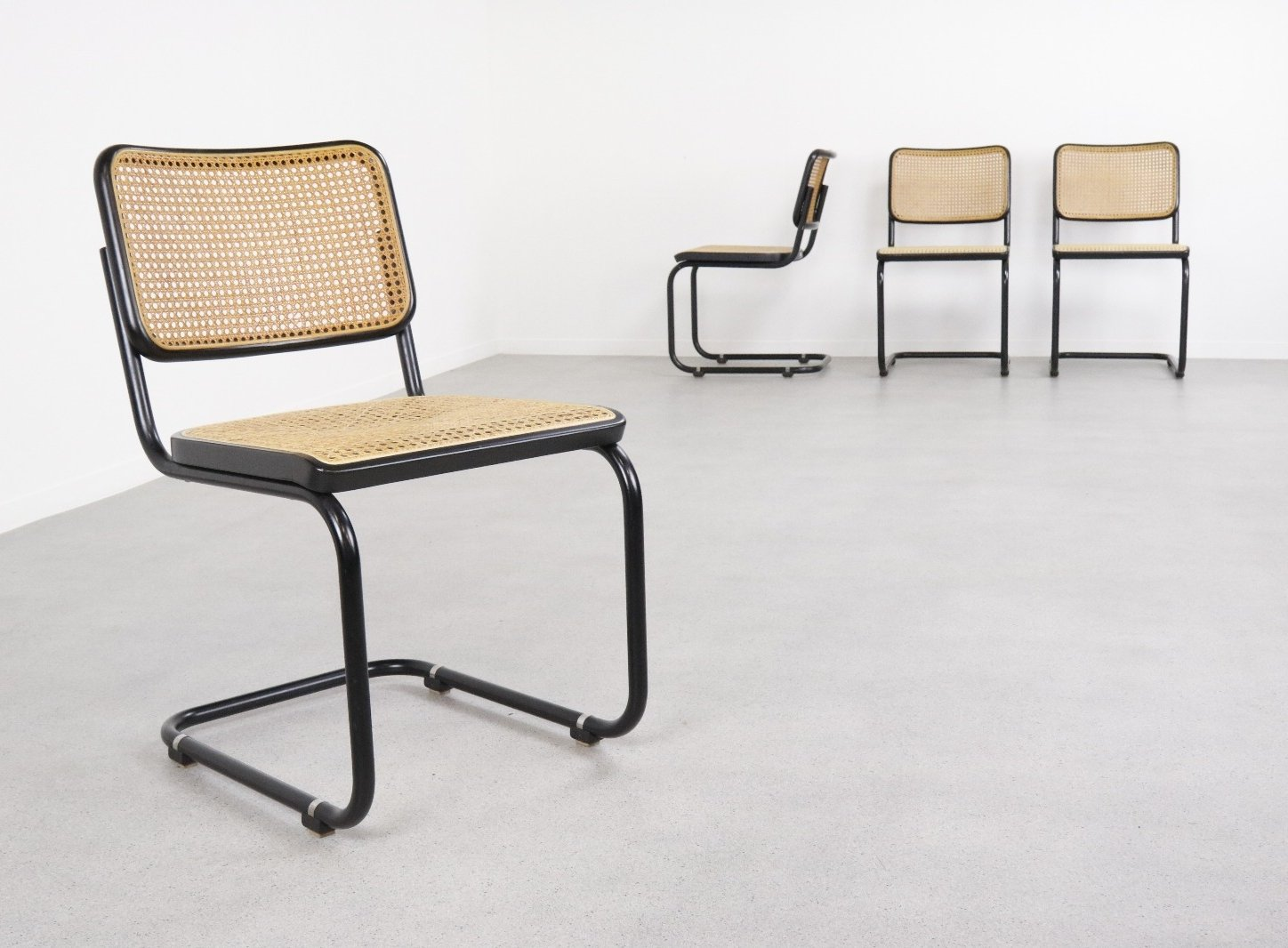 Surprising Set Of 4 B32 Cesca Dining Chairs By Marcel Breuer For Pdpeps Interior Chair Design Pdpepsorg