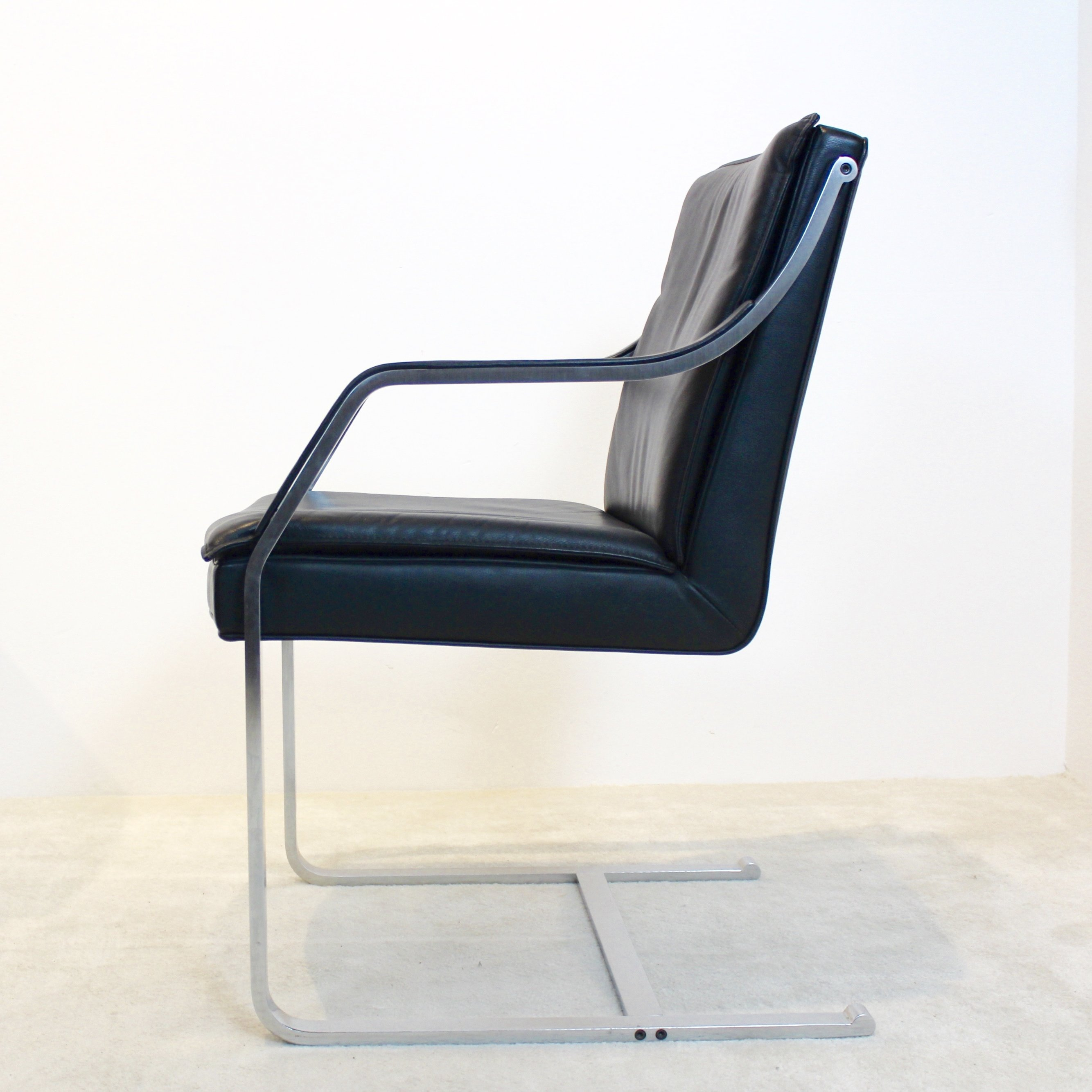 Walter Knoll Leather Art Collection Chairs By Rudolf B Glatzel