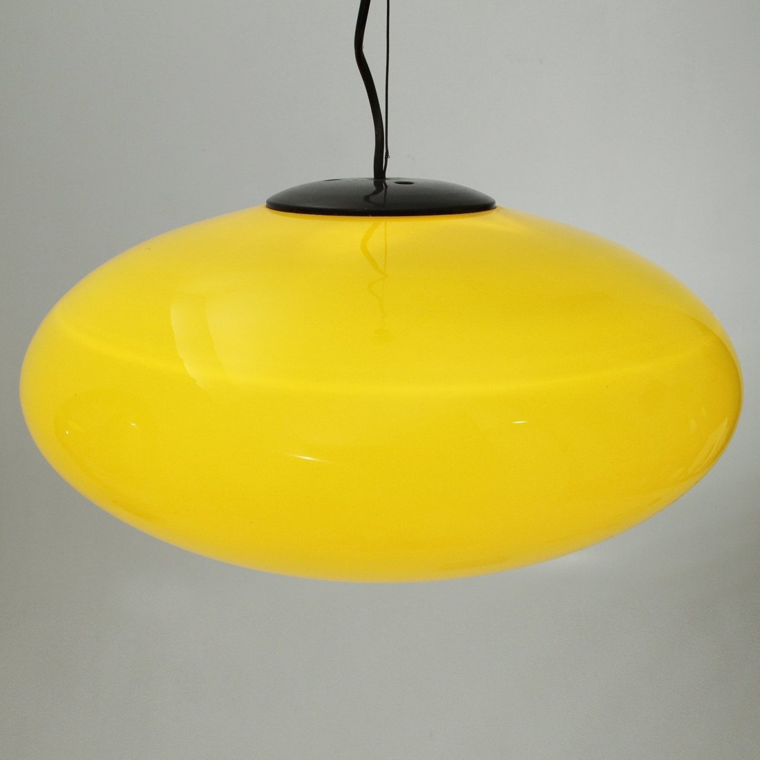 Italian Yellow Gl Pendant Lamp