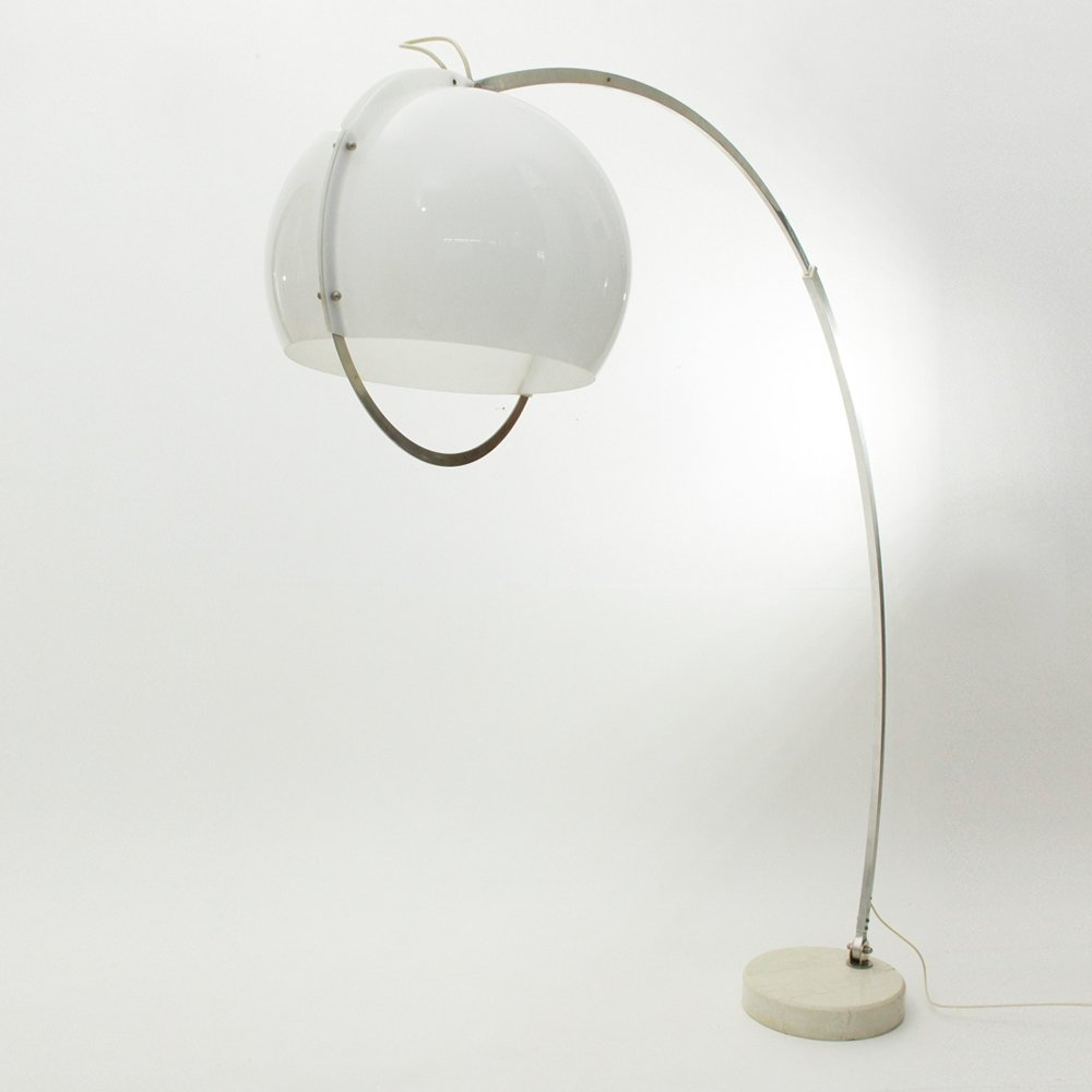 Arc Floor Lamp With Perspex Shade