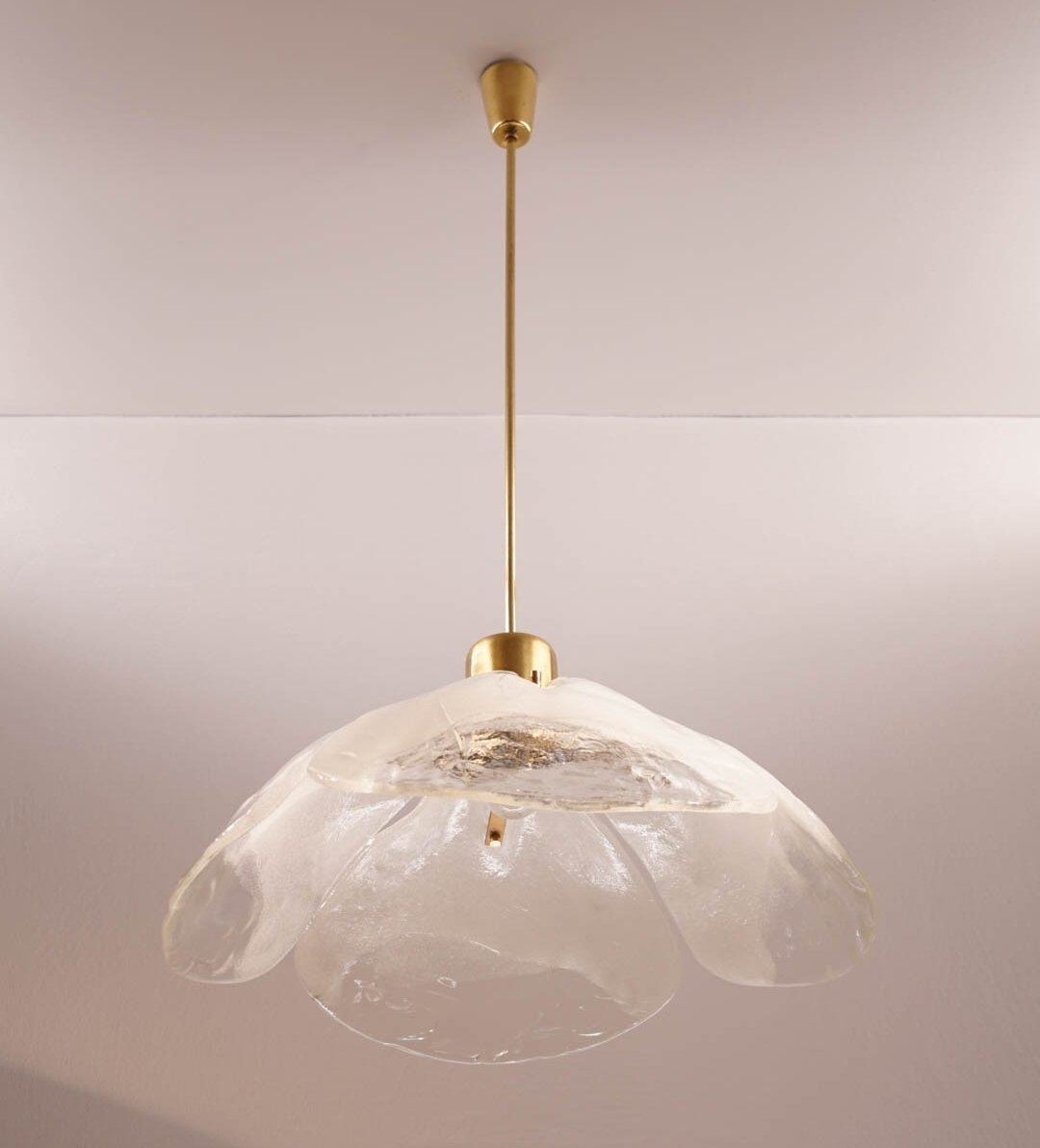 Very Large Murano Glass Ceiling Lamp by Kalmar | #80807