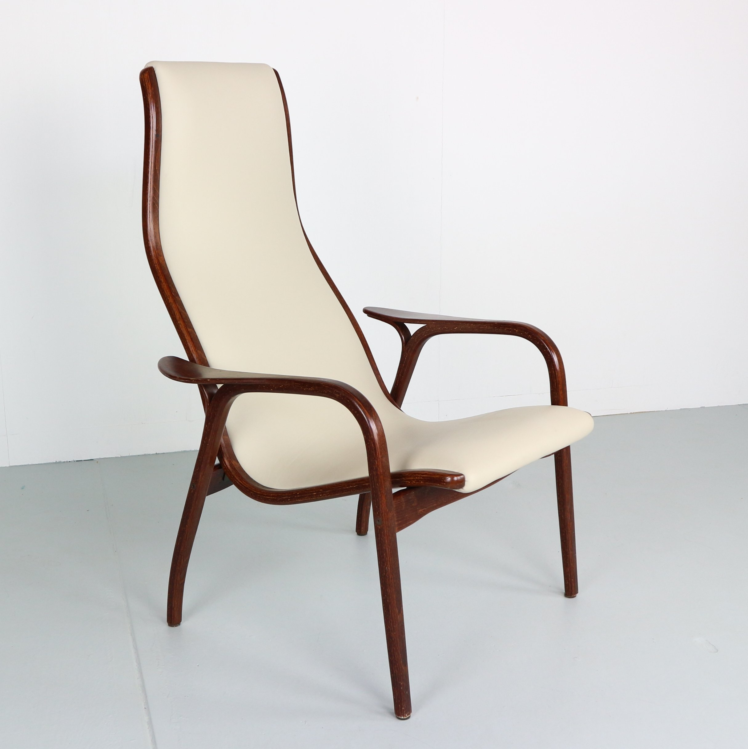Lamino Chair In Leather U0026 Wengé By Yngve Ekström For Swedese