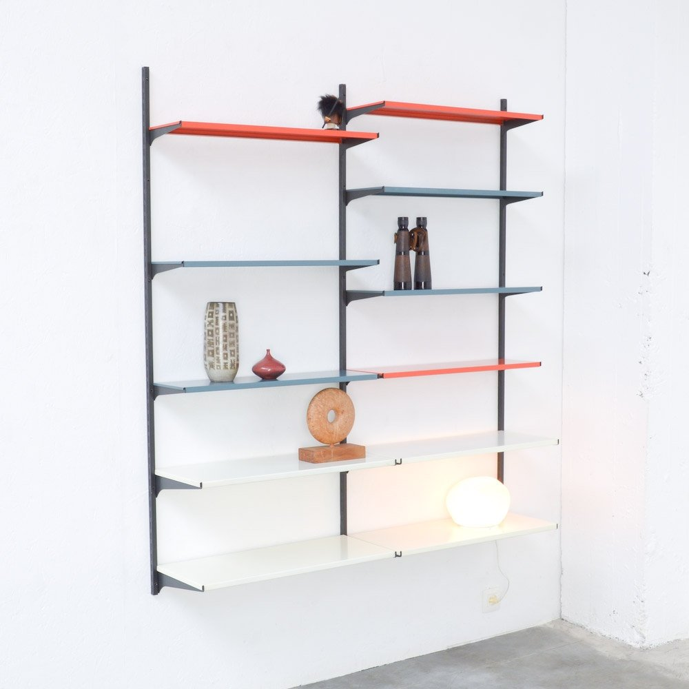 large bookshelf of wall picture simple id mounted