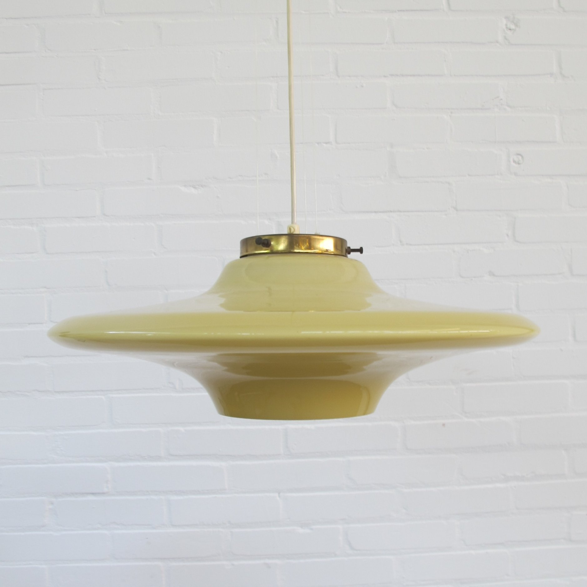 Italian Glass Pendant Lamp, 1950S