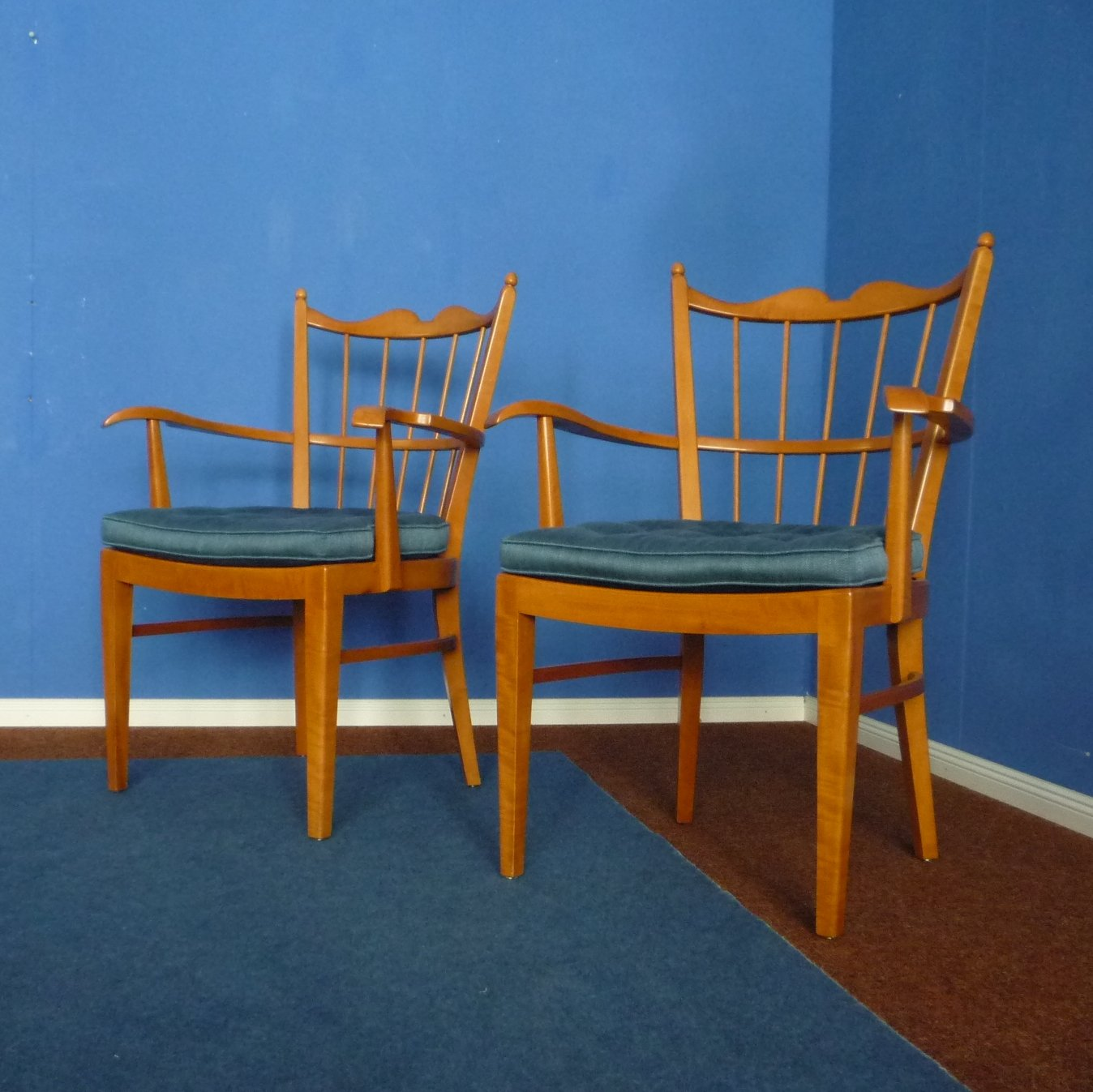Cherry Wood Chairs By Schildknecht Stuttgart 1956, Set Of Two