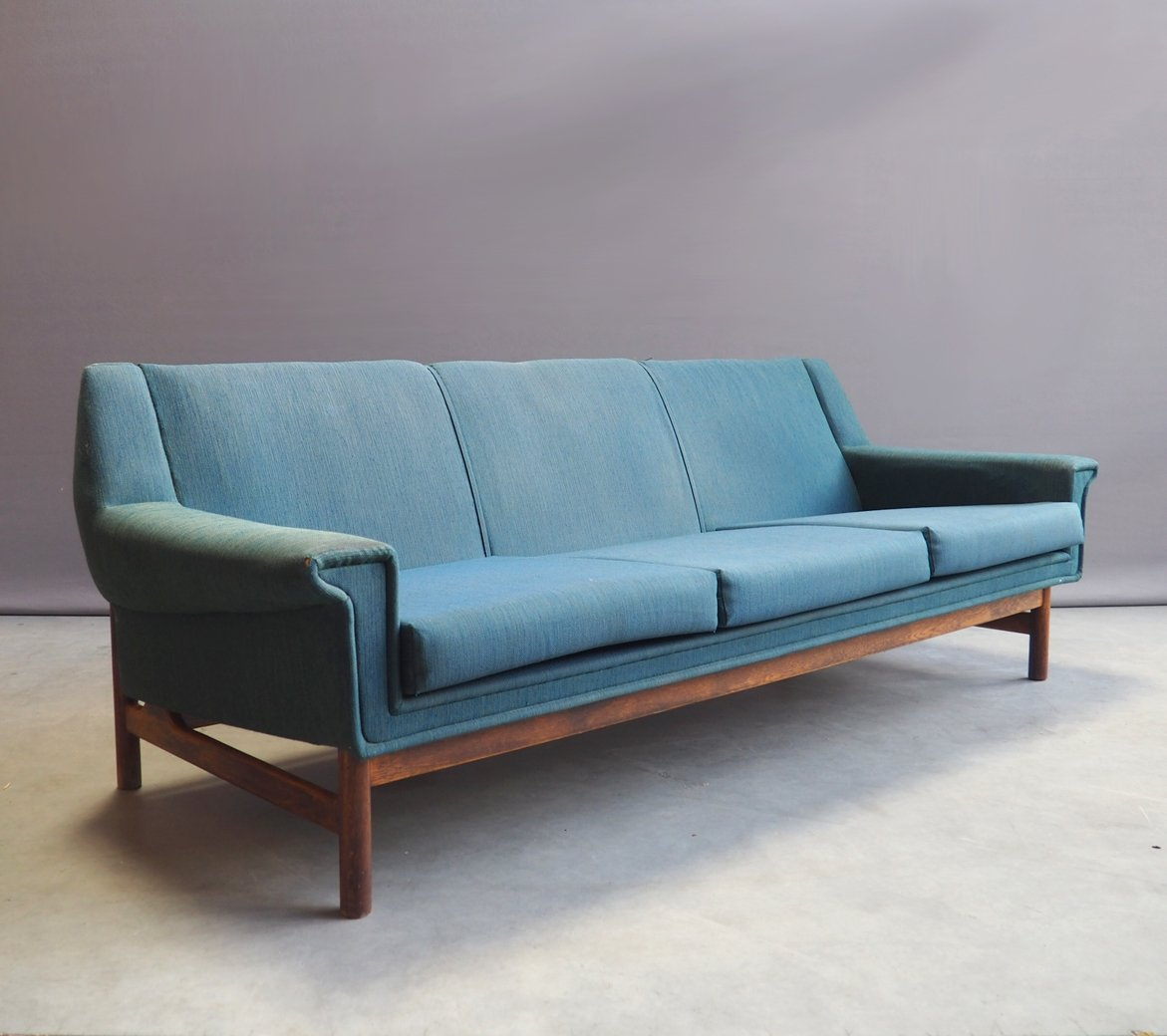 Danish Design Rosewood 3 Seater Sofa By Brdr Andersen