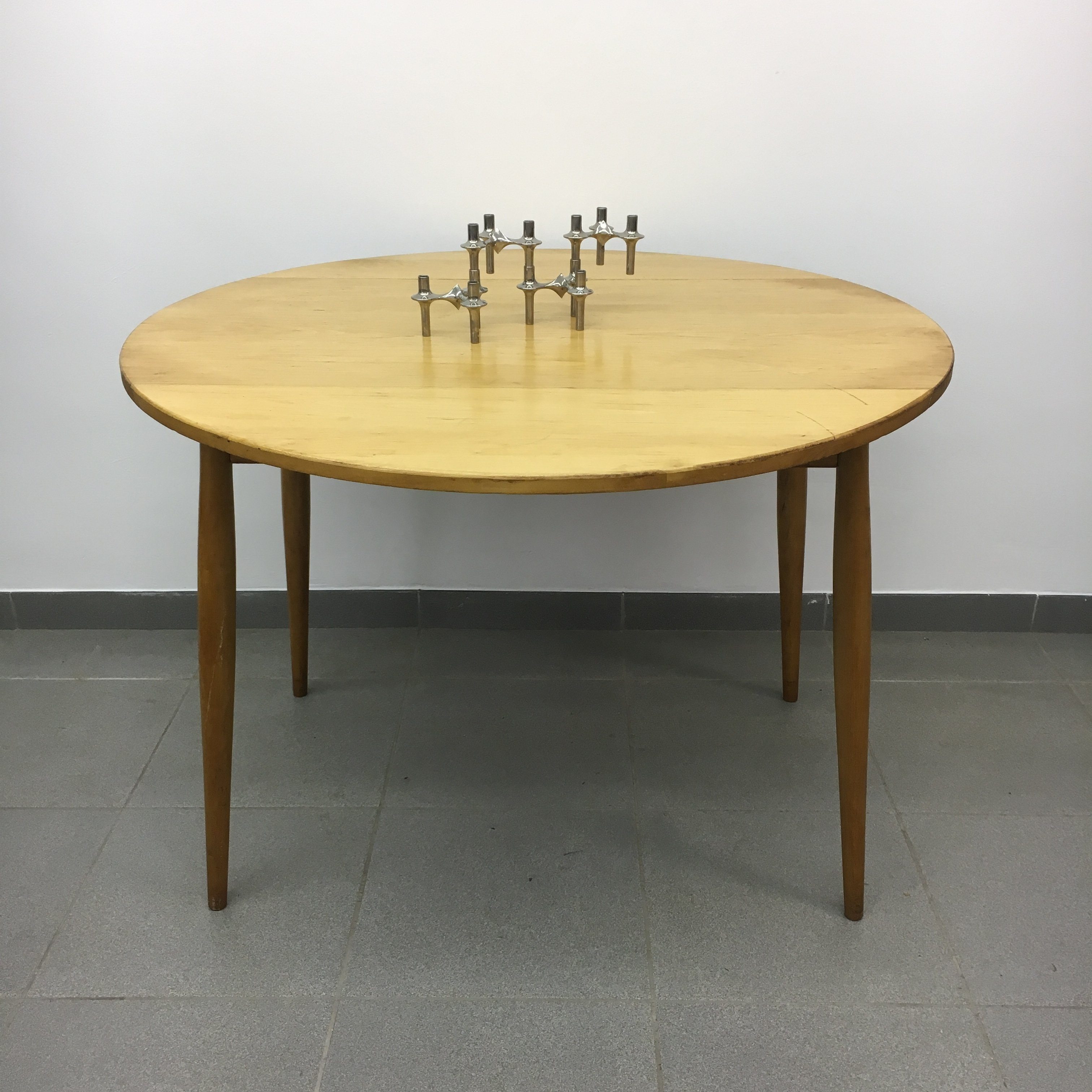 Vintage Dining Table With Drop Leaf 1950 S