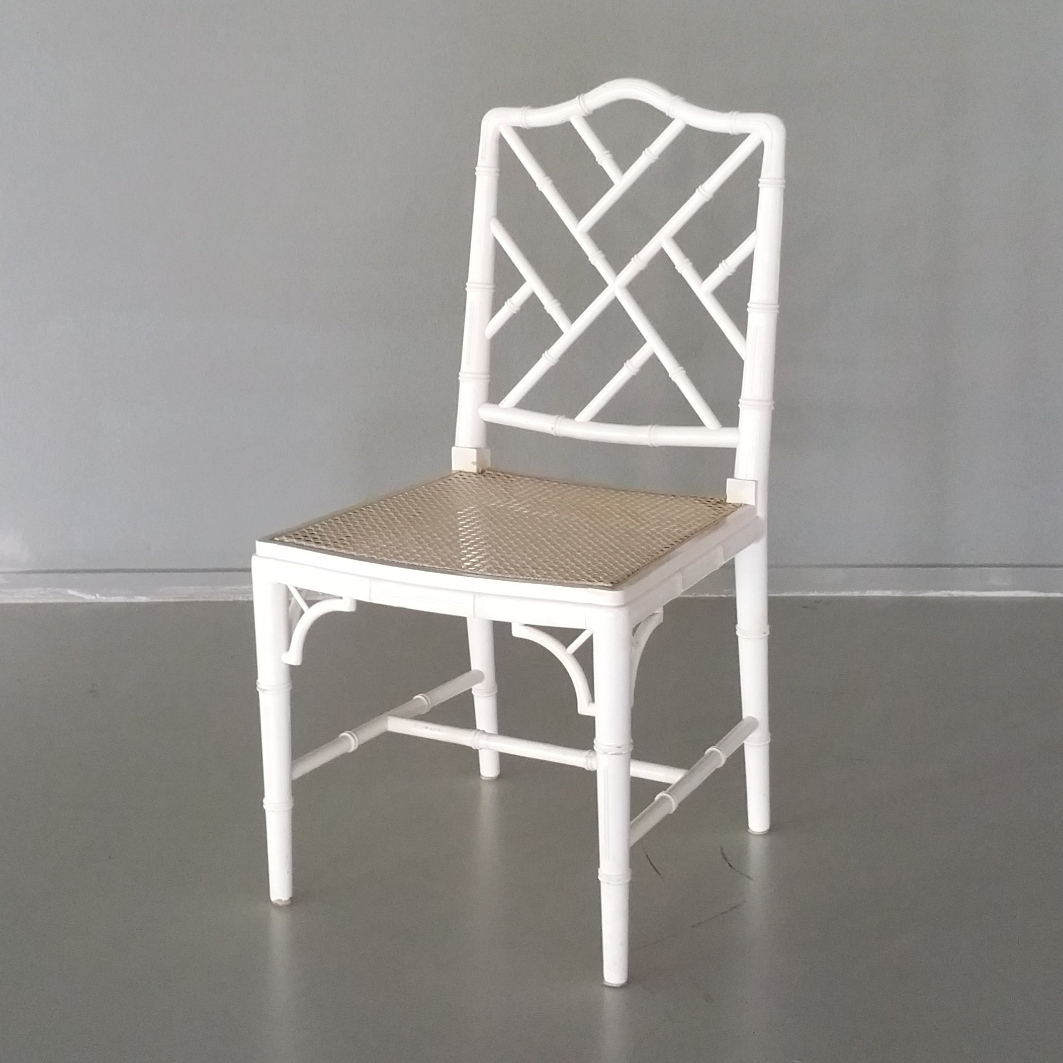 Vintage Faux Bamboo Chippendale Chair 1970s
