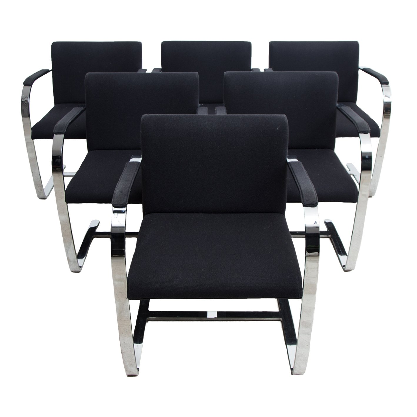 Set Of Six Brno Chairs By Mies Van Der Rohe 83449
