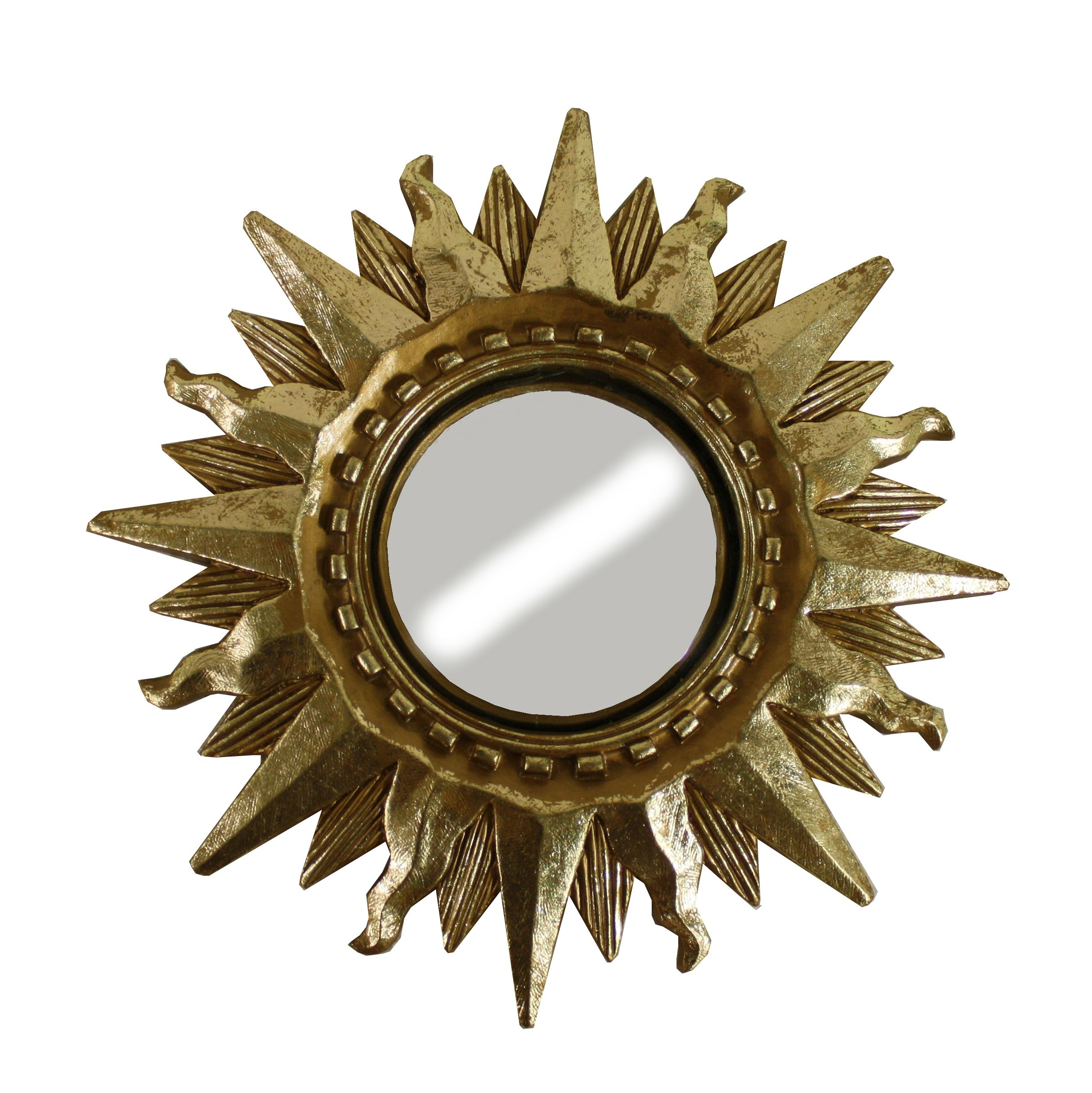 Small Mid Century Sunburst Mirror 1960s