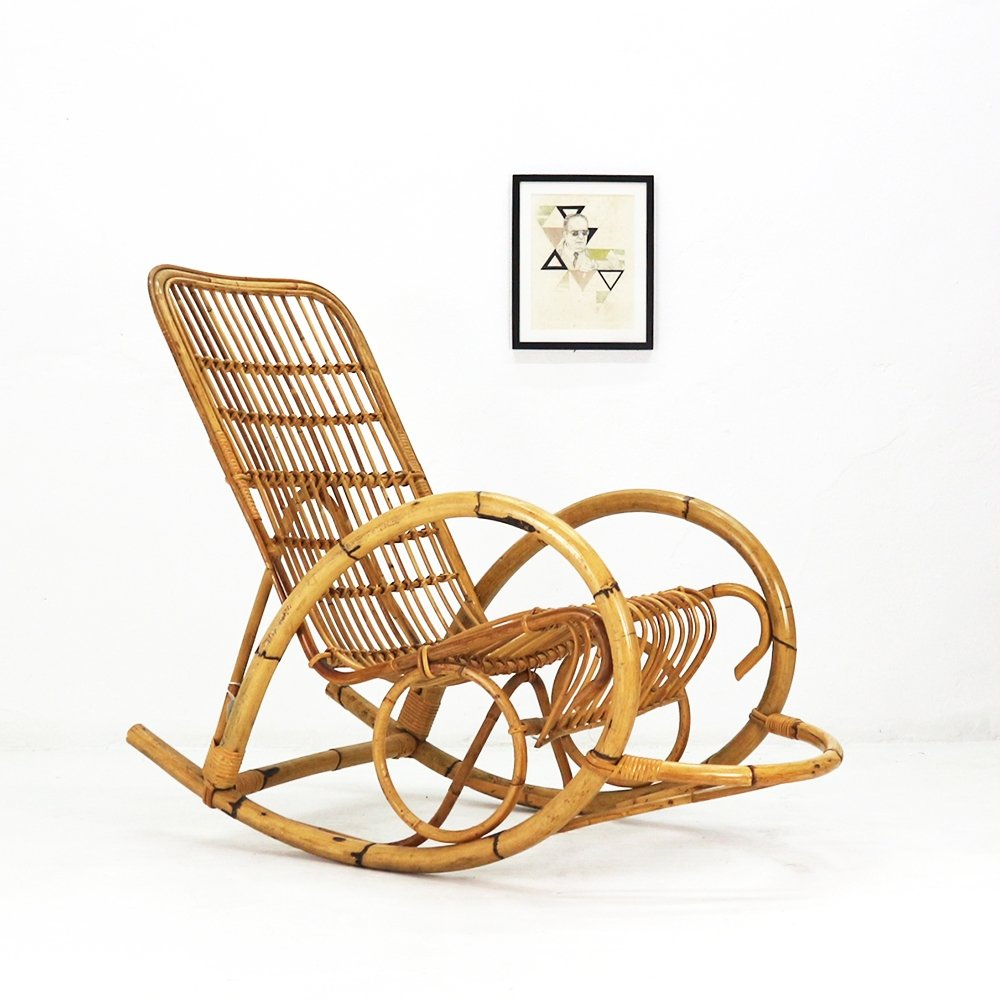 Astounding Vintage Wicker Rocking Chair 1960S 83672 Dailytribune Chair Design For Home Dailytribuneorg