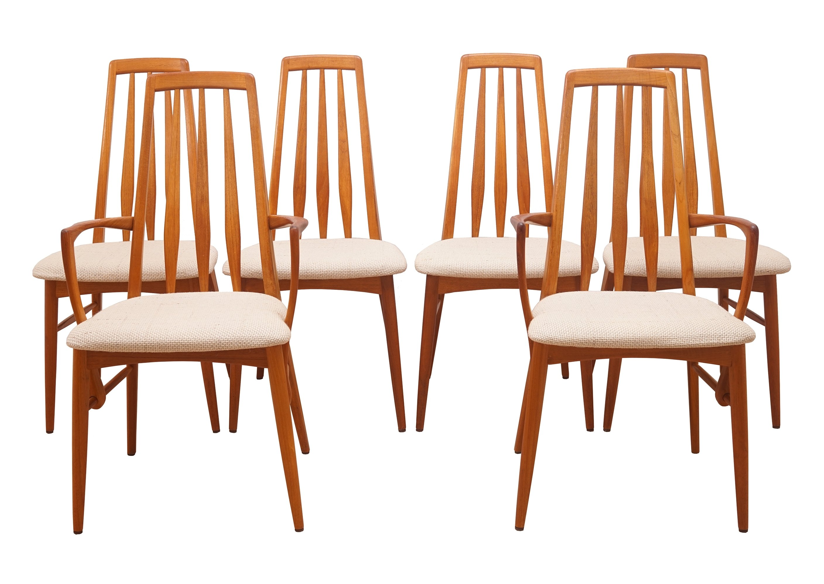Pleasant Eva Dining Chairs By Niels Koefoed Set Of 6 Creativecarmelina Interior Chair Design Creativecarmelinacom