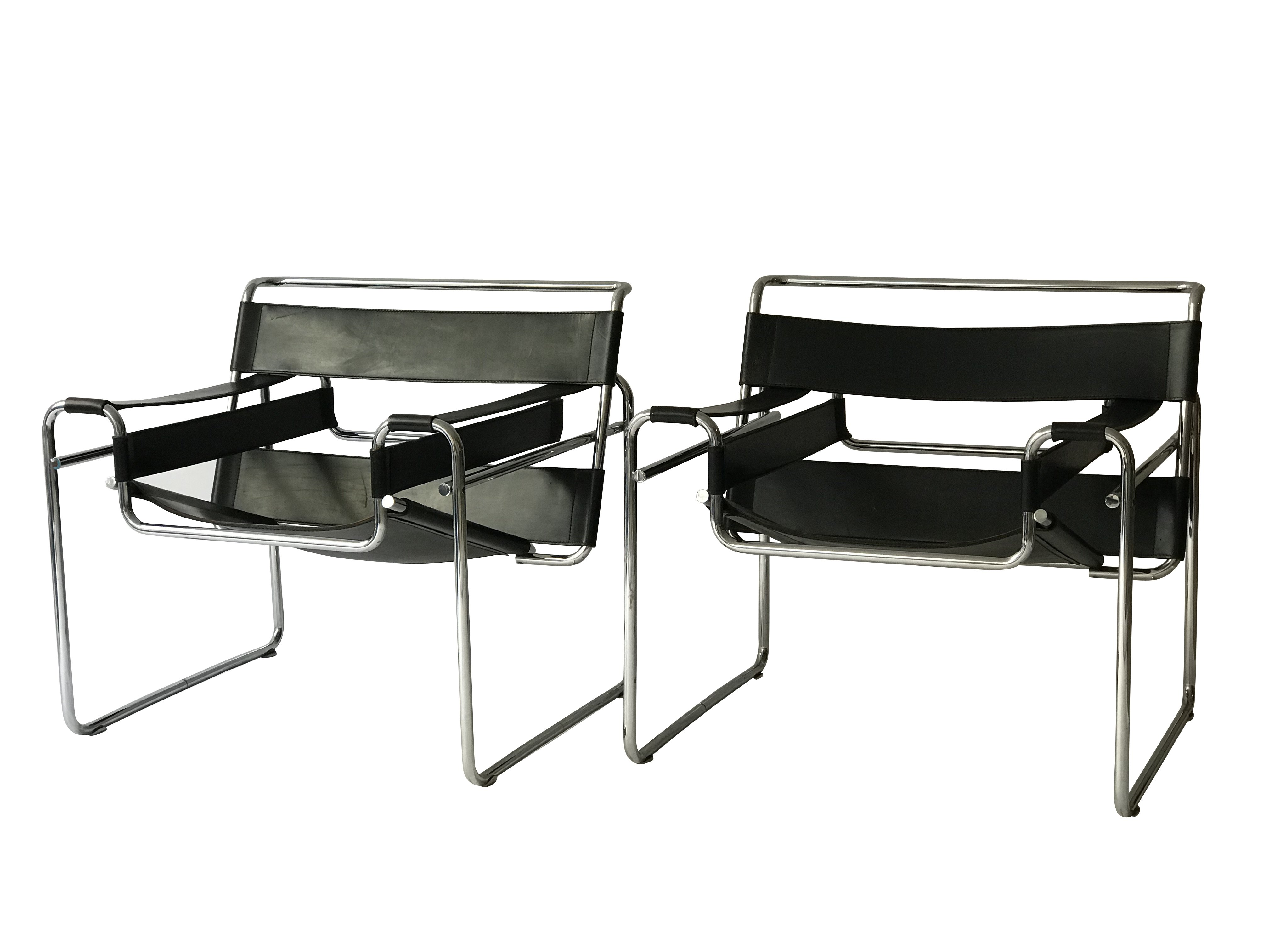 2 X B3 Wassily Lounge Chair By Marcel Breuer For Gavina, 1960s