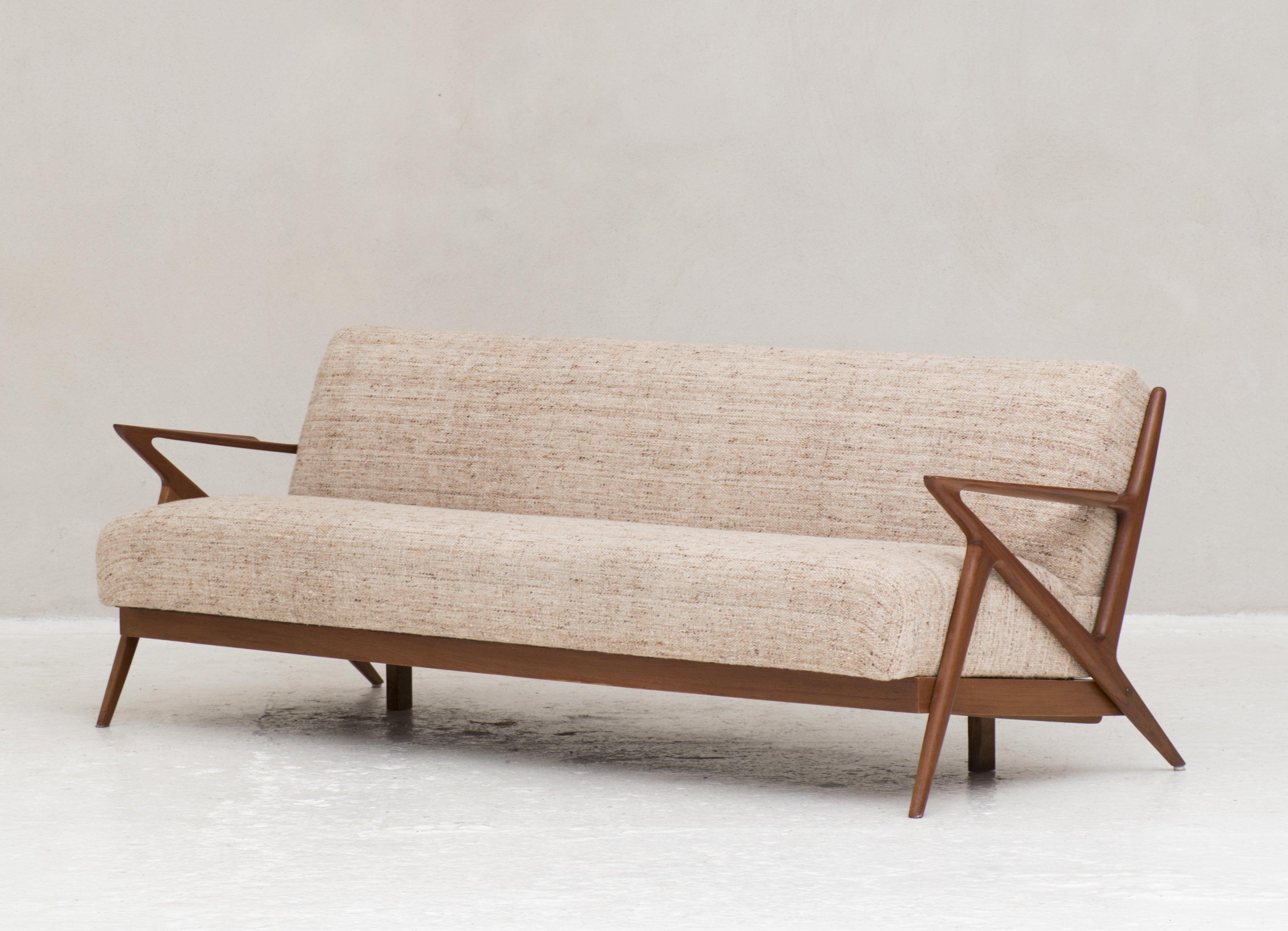 3 Seater Sofa By Poul Jensen For Selig Denmark 1950