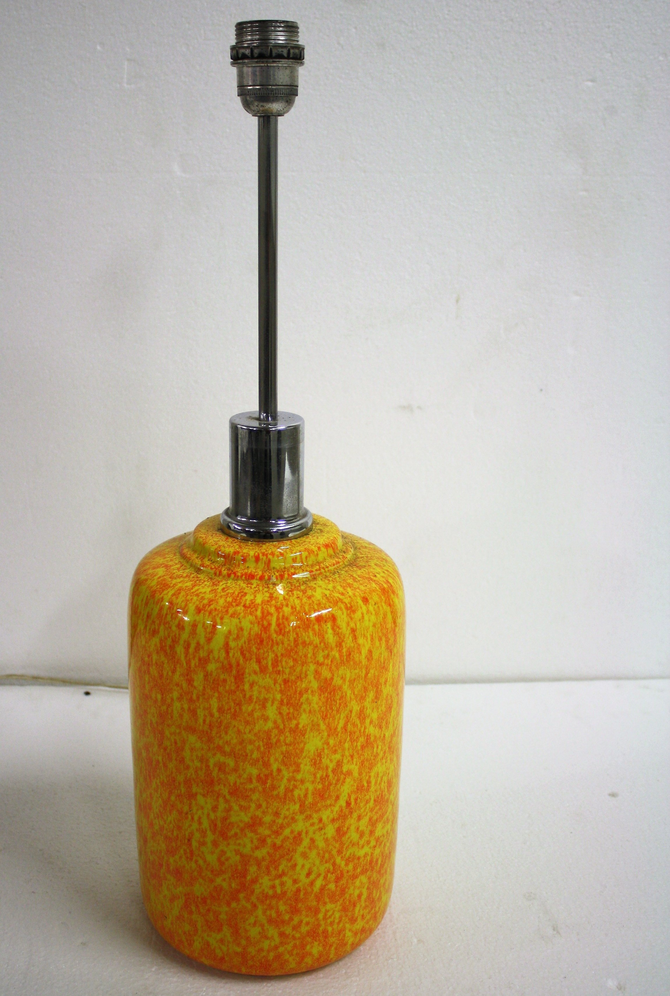 Exceptionnel Large Yellow Ceramic Table Lamp, 1960s
