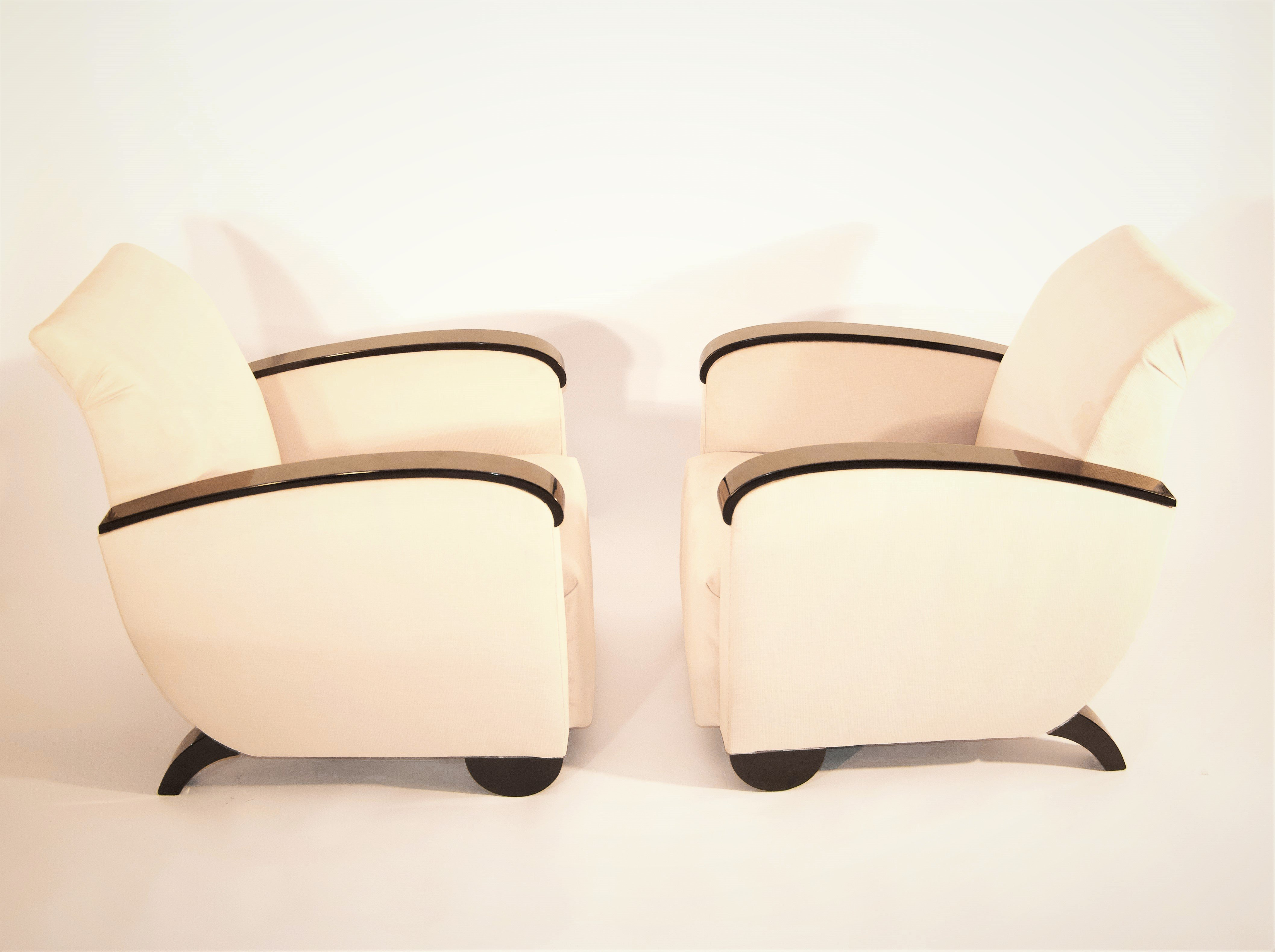 Art Deco French Armchairs, 1930s