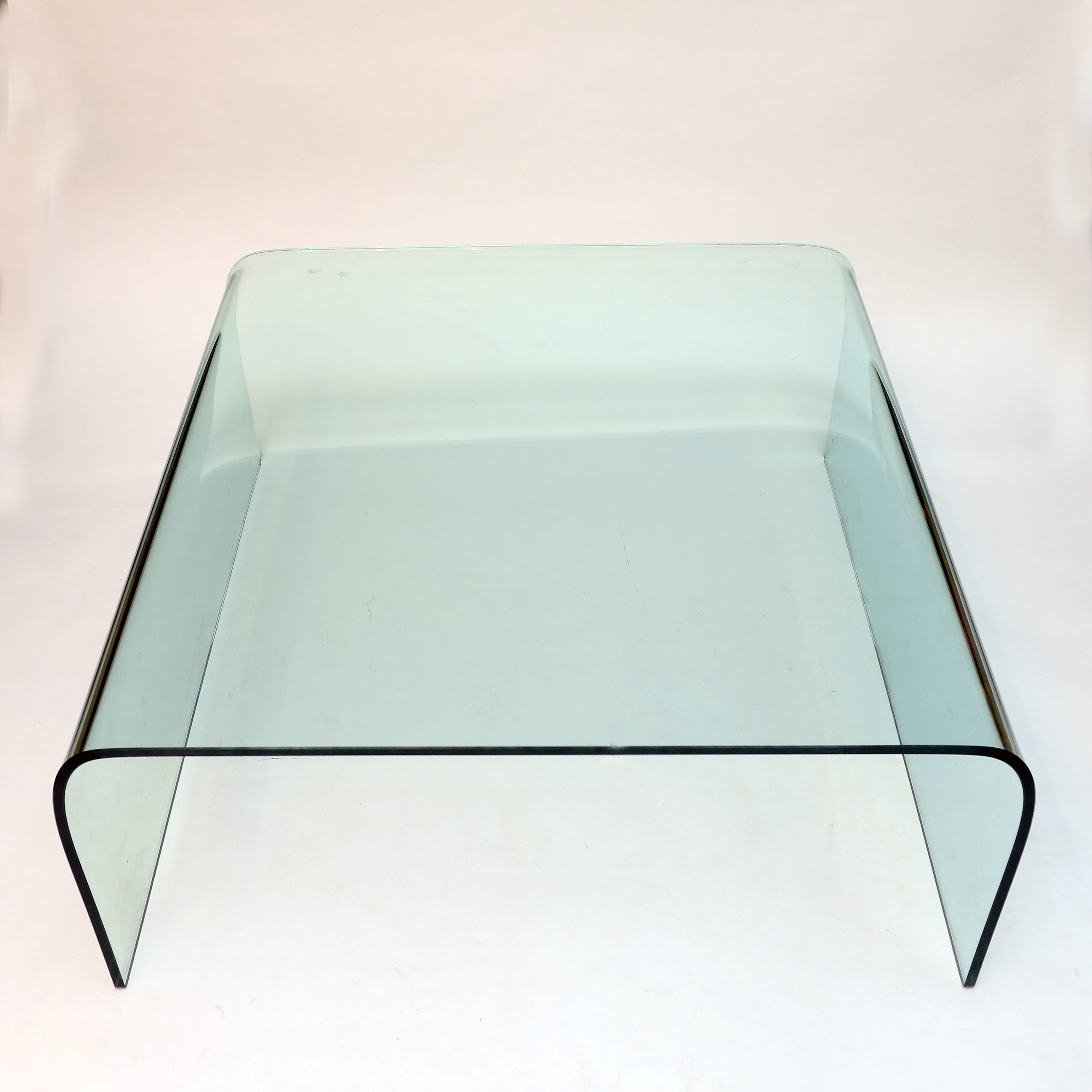 - Vintage Glass Coffee Table By Fiam, Italy 1980s #84996