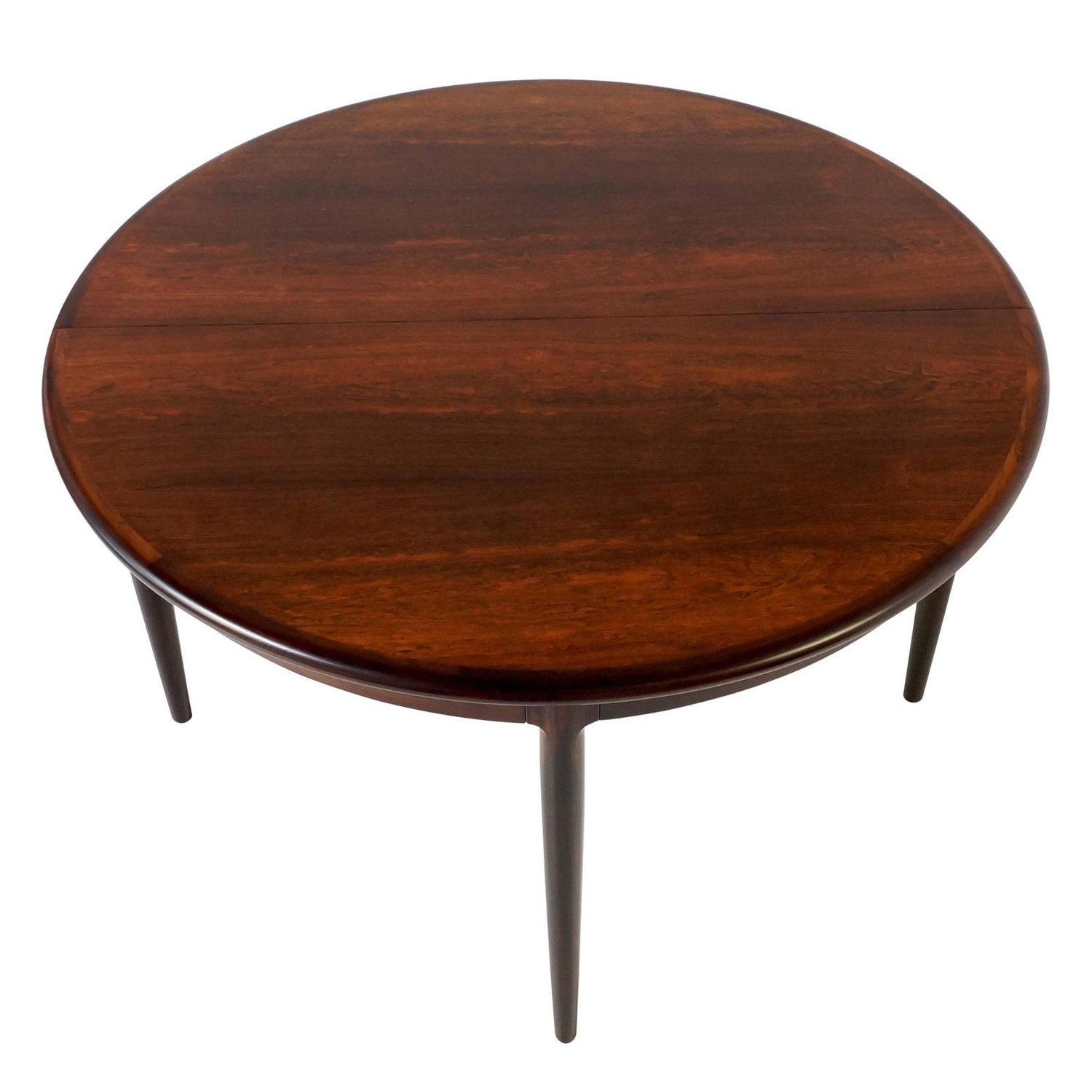 1960s Round Extendable Danish Dining Table By Niels Otto Møller In Rosewood