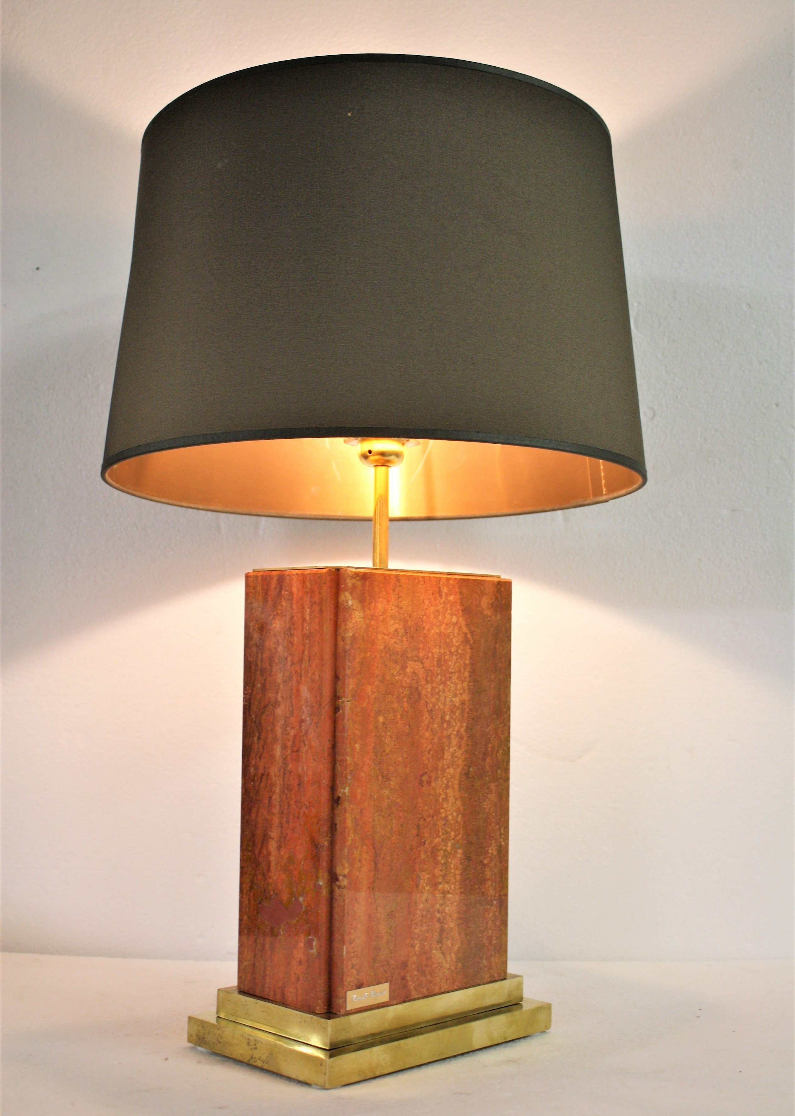Vintage Marble Table Lamp By Camille Breesch 1970s 85433