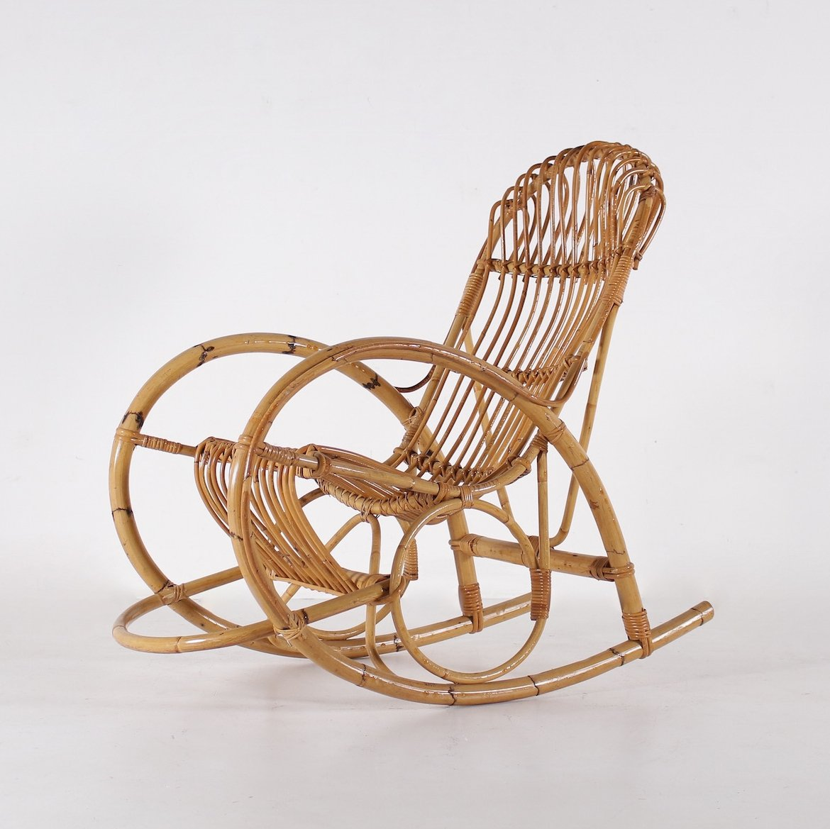 Fabulous Italian Bamboo Rocking Chair 1960S 86256 Gmtry Best Dining Table And Chair Ideas Images Gmtryco