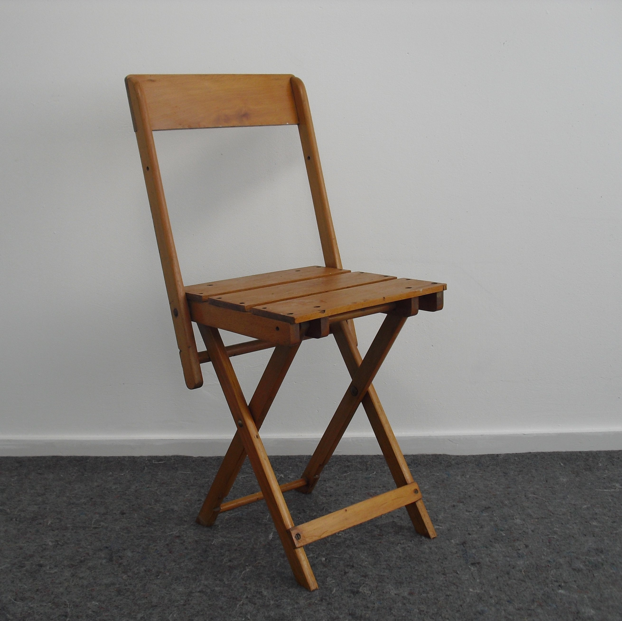 - Vintage Children's Folding Chair, Stool & Table In One By E. A.