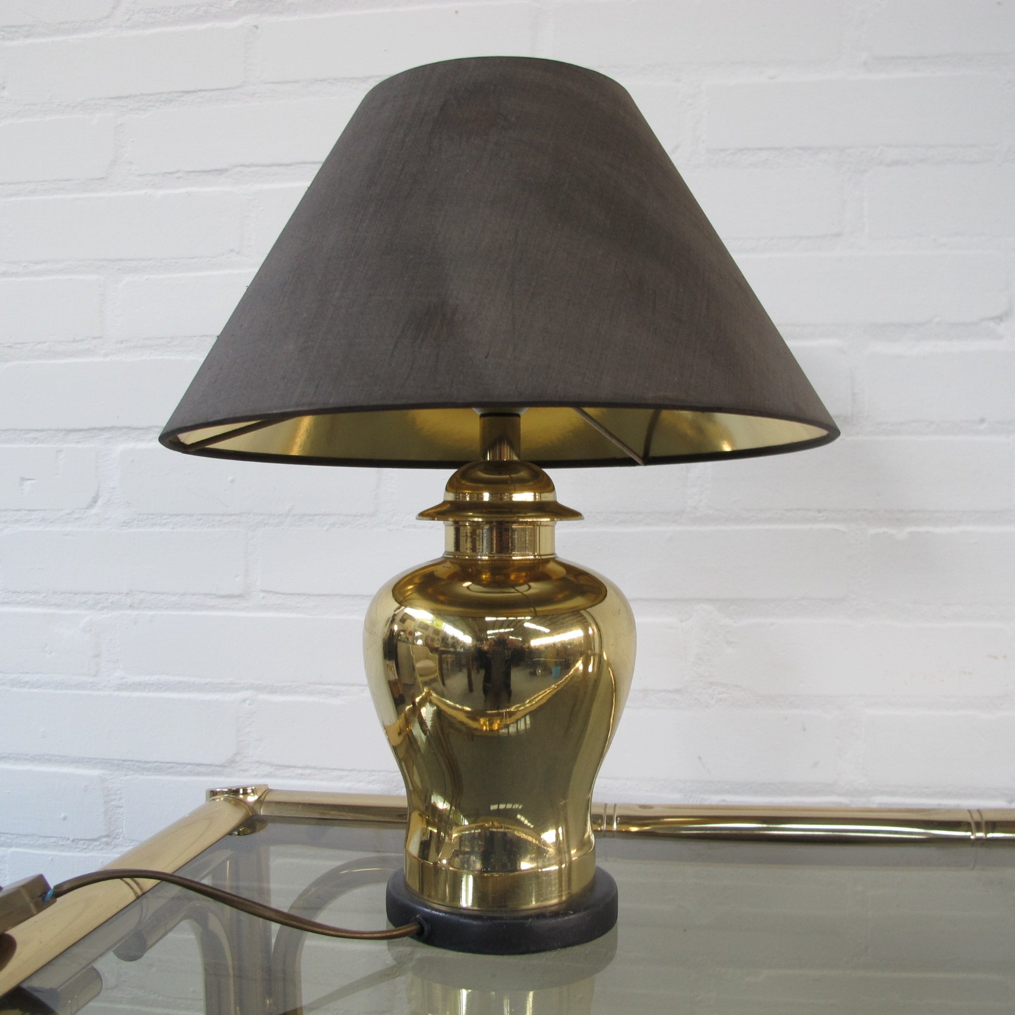 Vintage Brass Table Lamp 1970s 86805