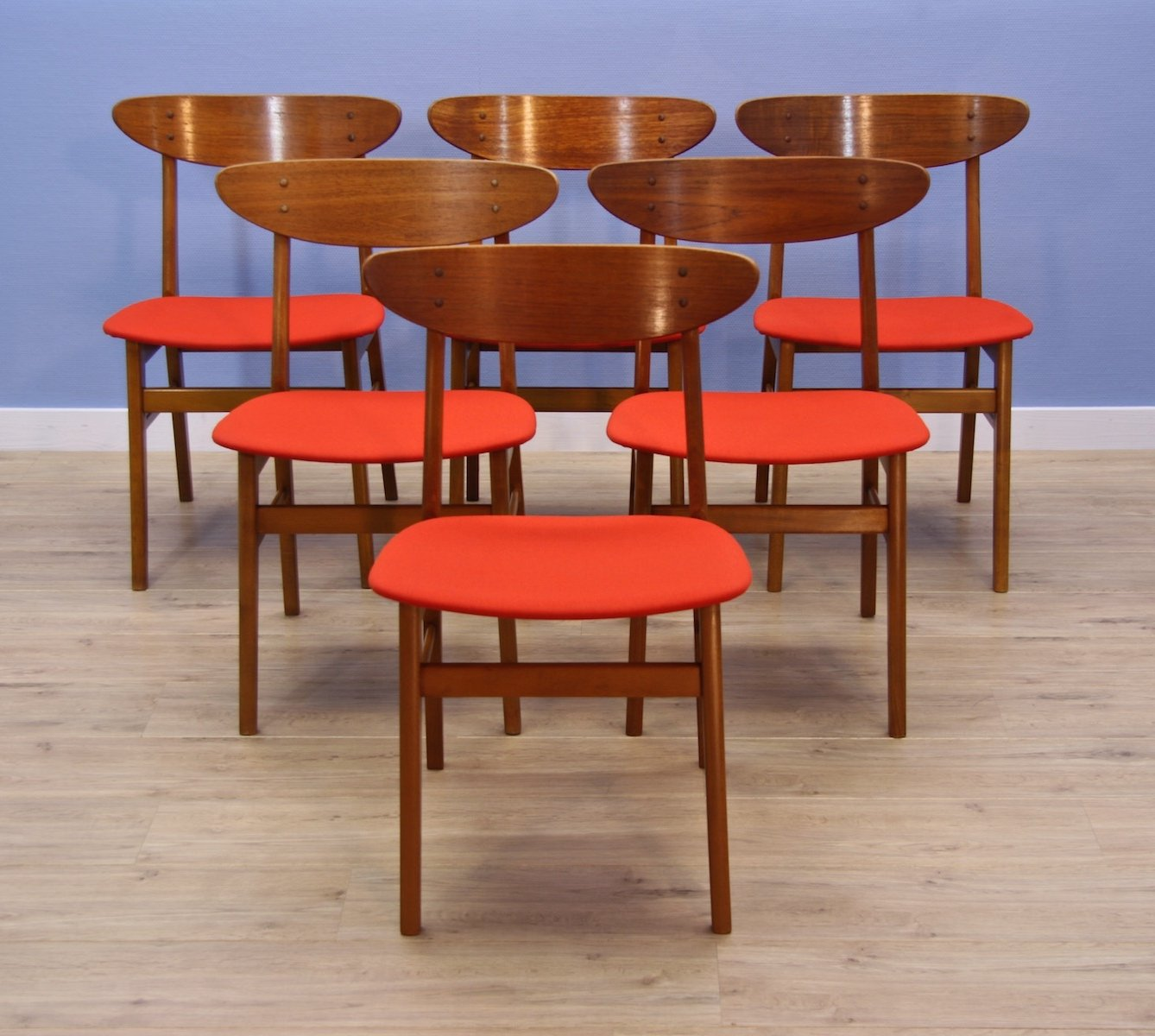 Peachy Set Of 6 Danish Dining Chairs In Teak By Farstrup 86796 Squirreltailoven Fun Painted Chair Ideas Images Squirreltailovenorg