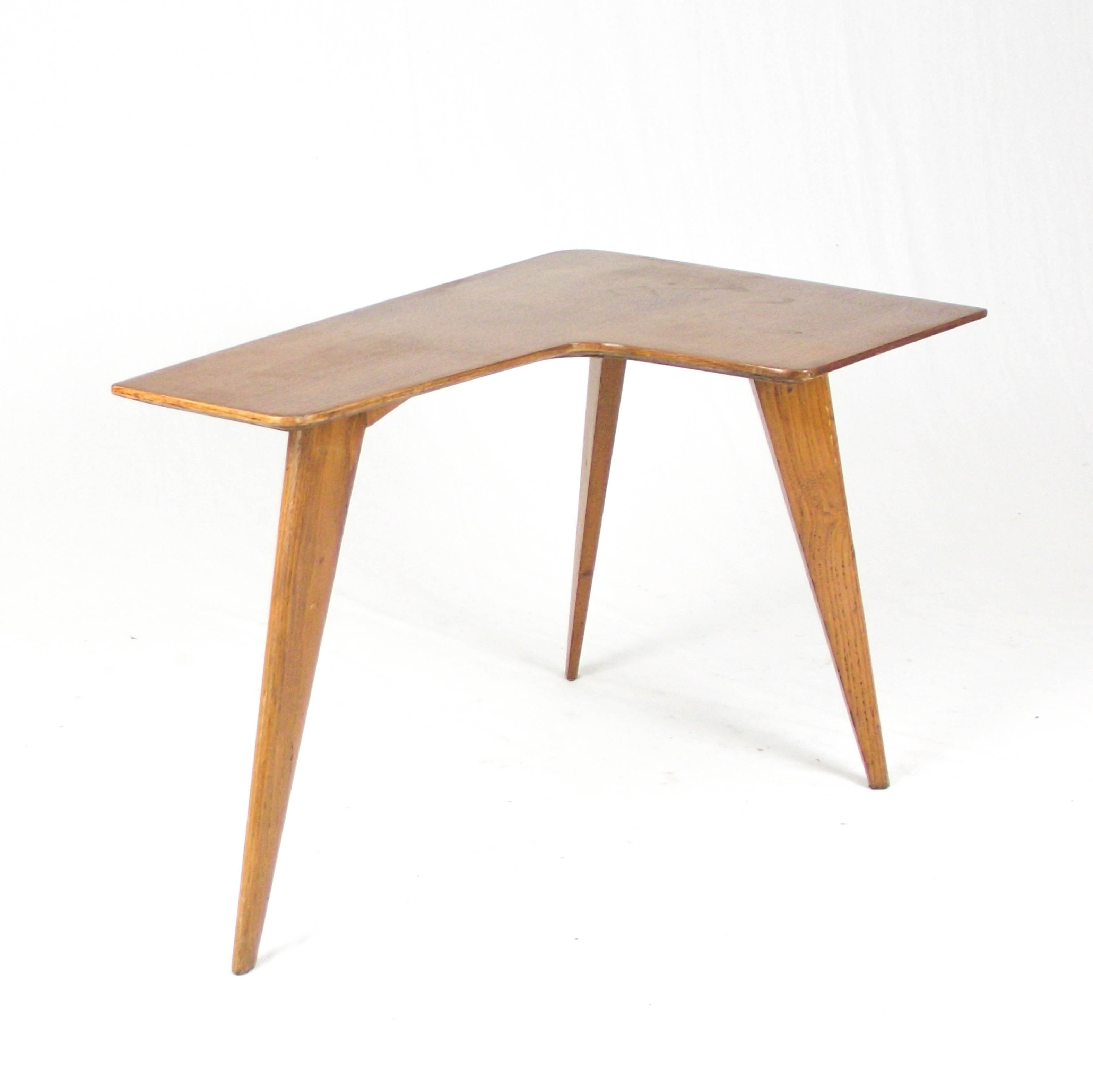L Shaped French Coffee Table 1950s