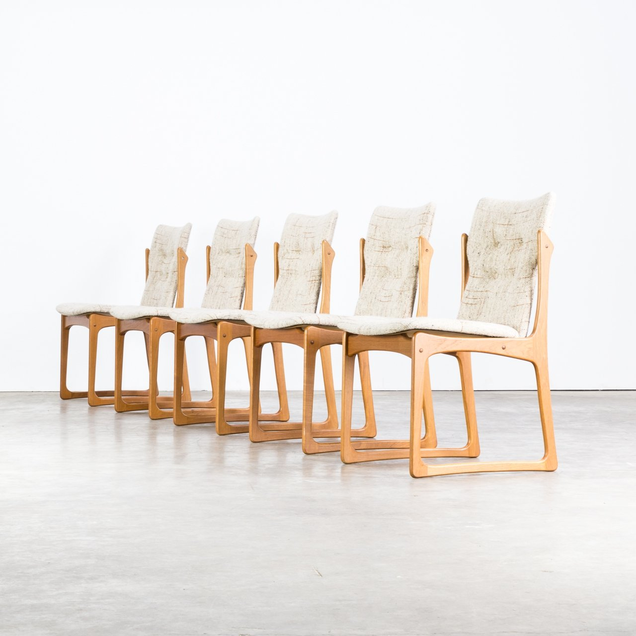 Peachy Set Of 5 Dining Room Chairs For Vamdrup Stolefabrik Denmark Beatyapartments Chair Design Images Beatyapartmentscom