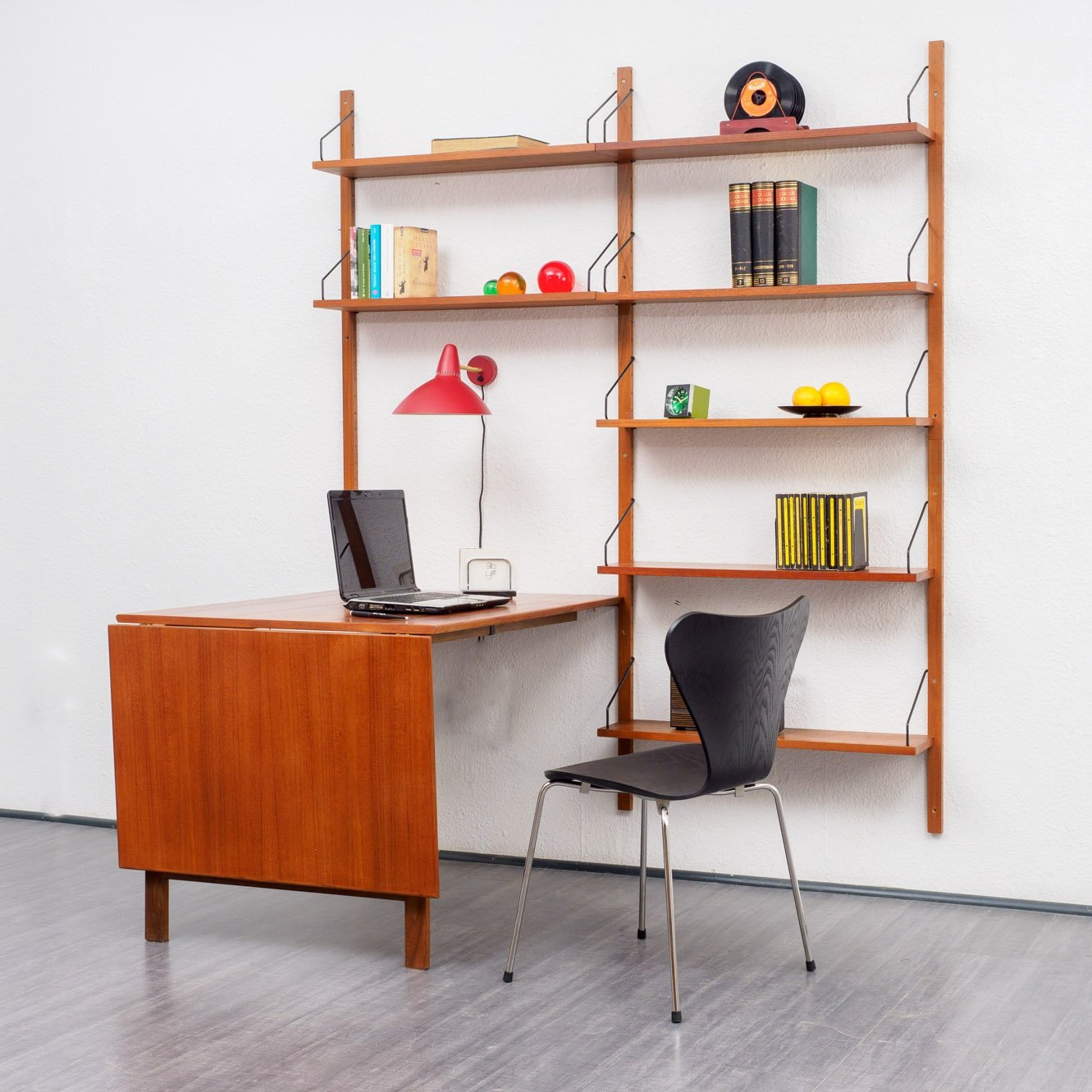 Royal System Wall Unit With Table By