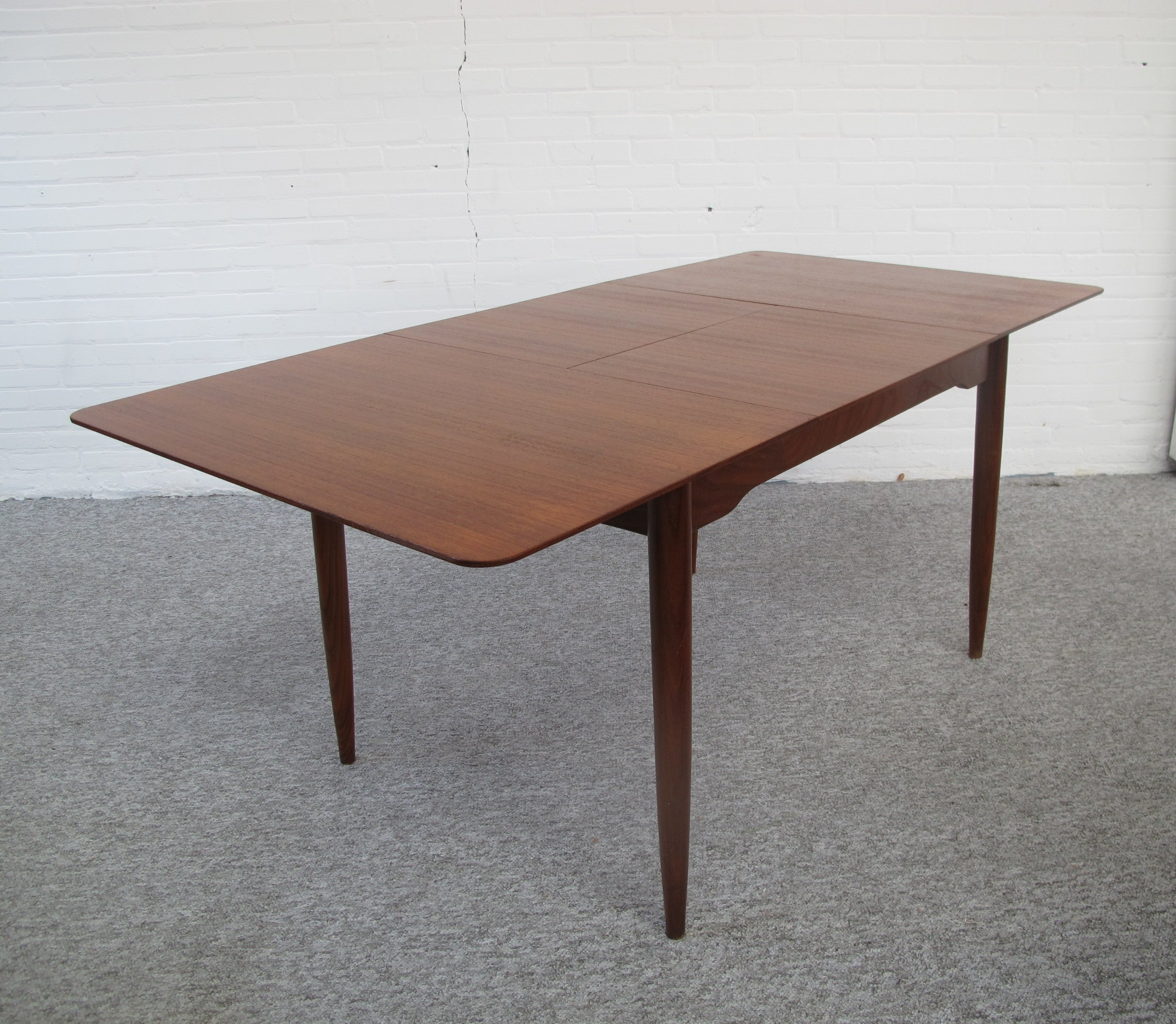 Vintage Extendable Teak Dining Table 1960