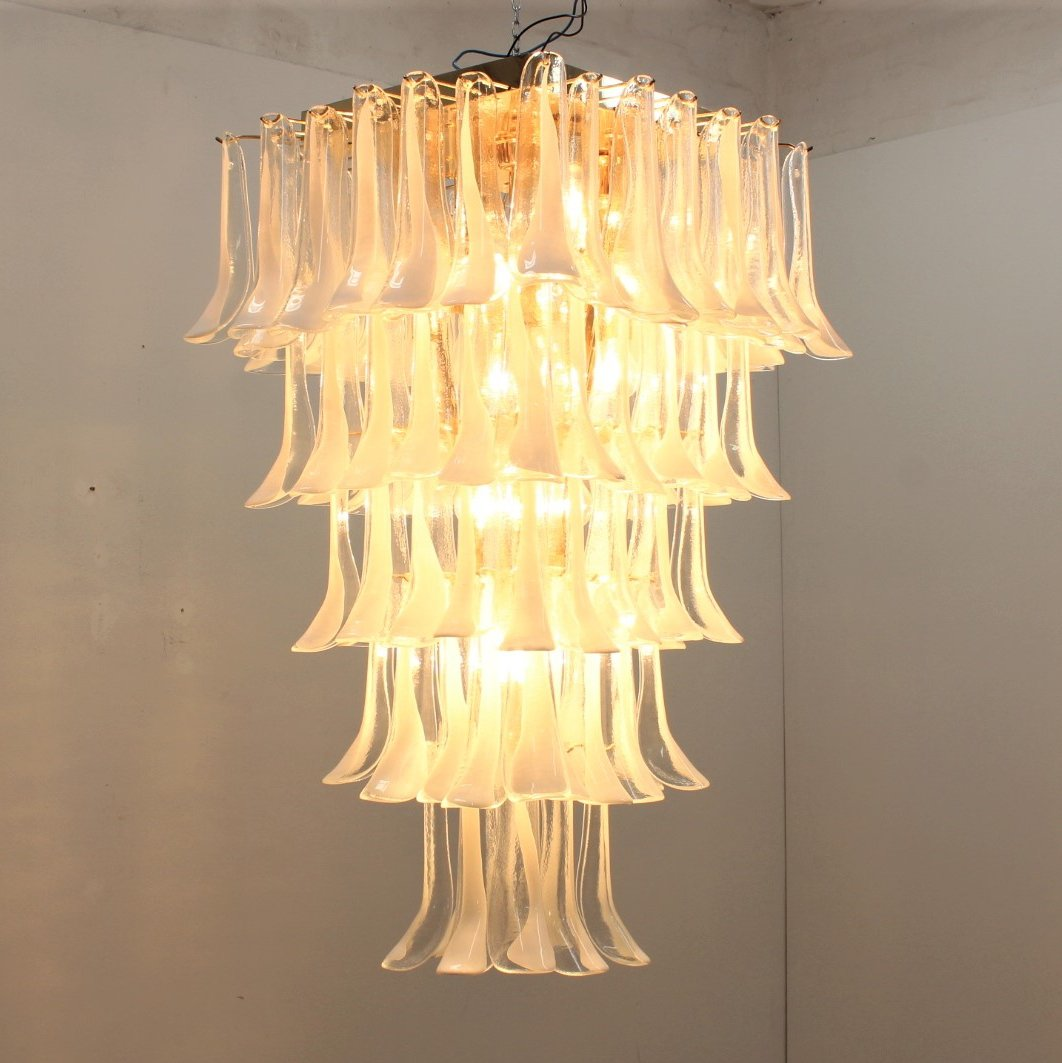 Huge Vintage La Murrina Chandelier With 100 Murano Gl
