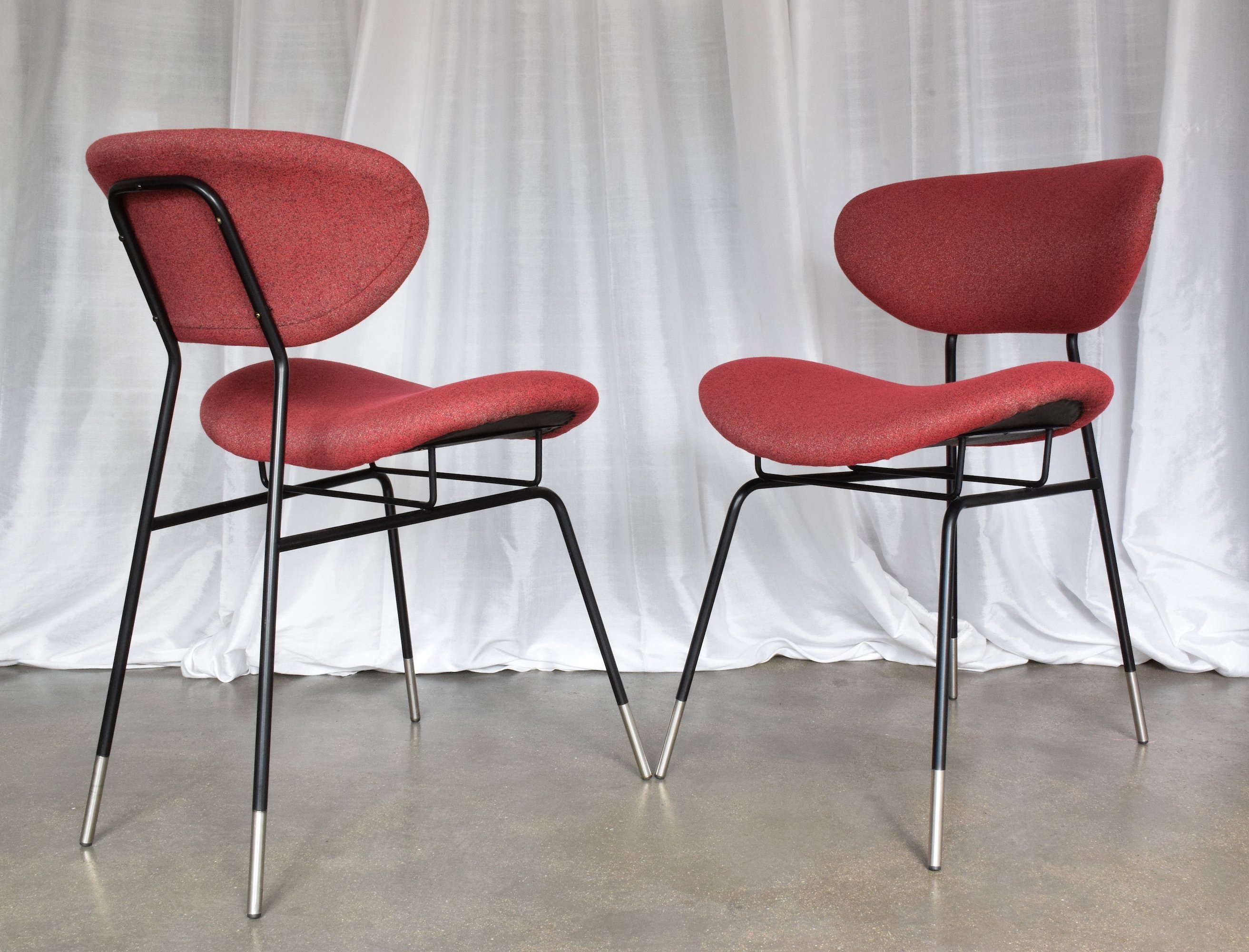 Pair Of Italian Mid Century Chairs By Gastone Renaldi For Rima 1950