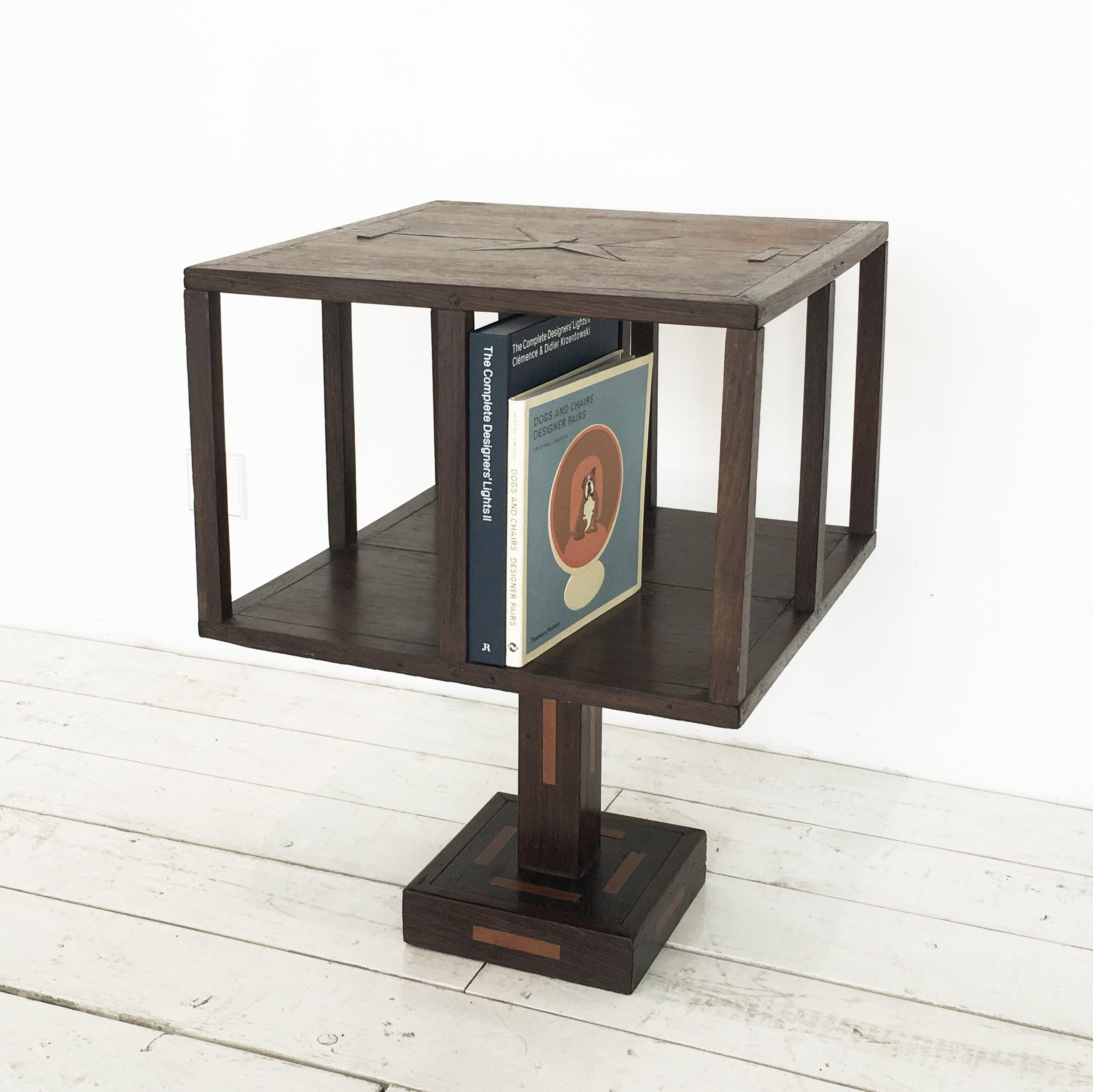 Unusual rotating bookshelf, 1920s | #87581