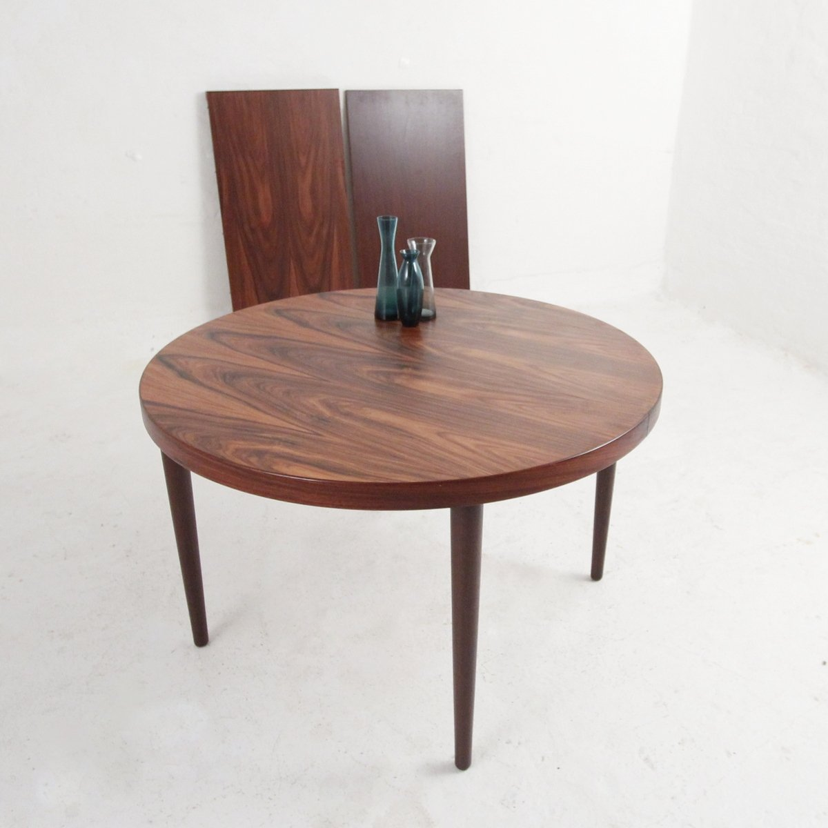 Round Dining Table In Rosewood By Kai Kristiansen 89186
