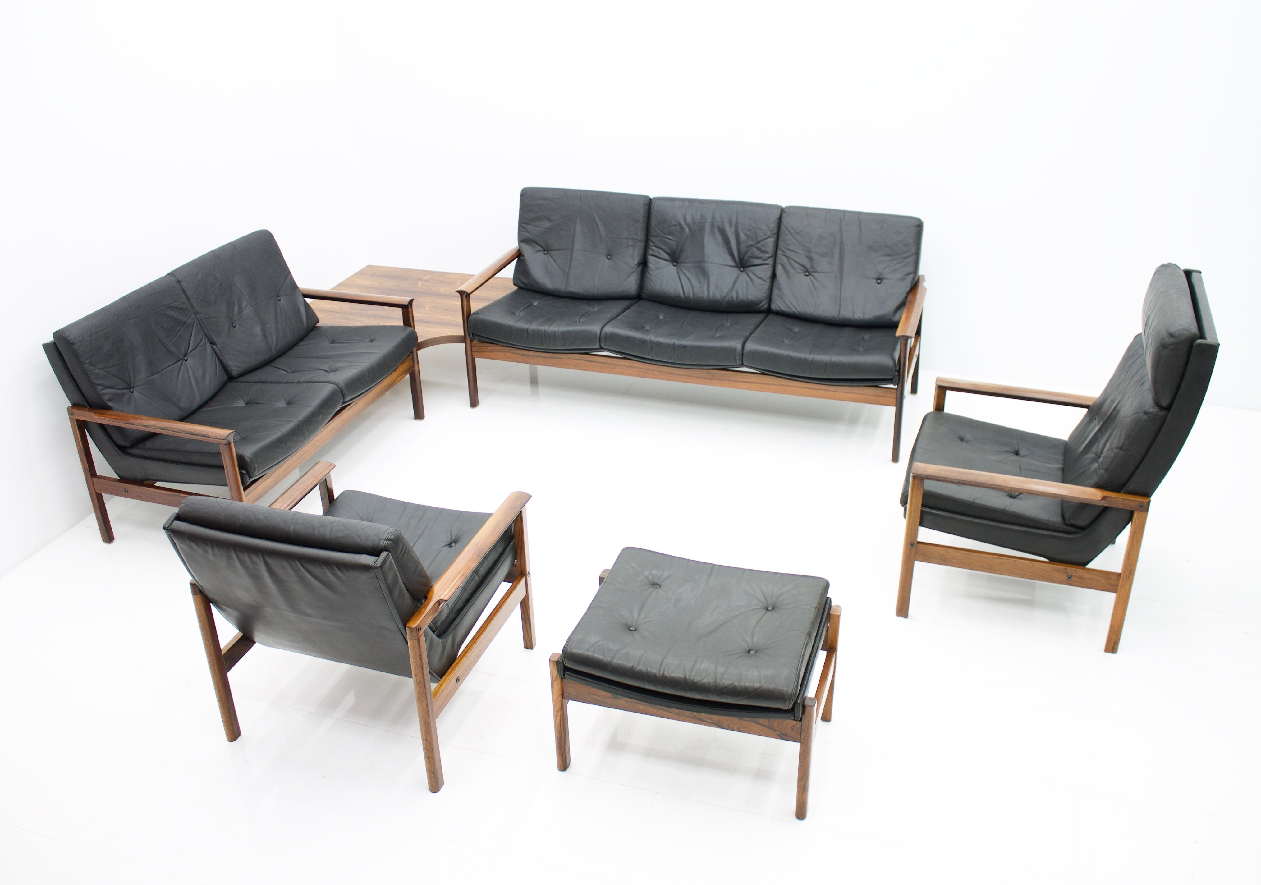 Scandinavian Living Room Set With 2 Sofas 2 Lounge Chairs