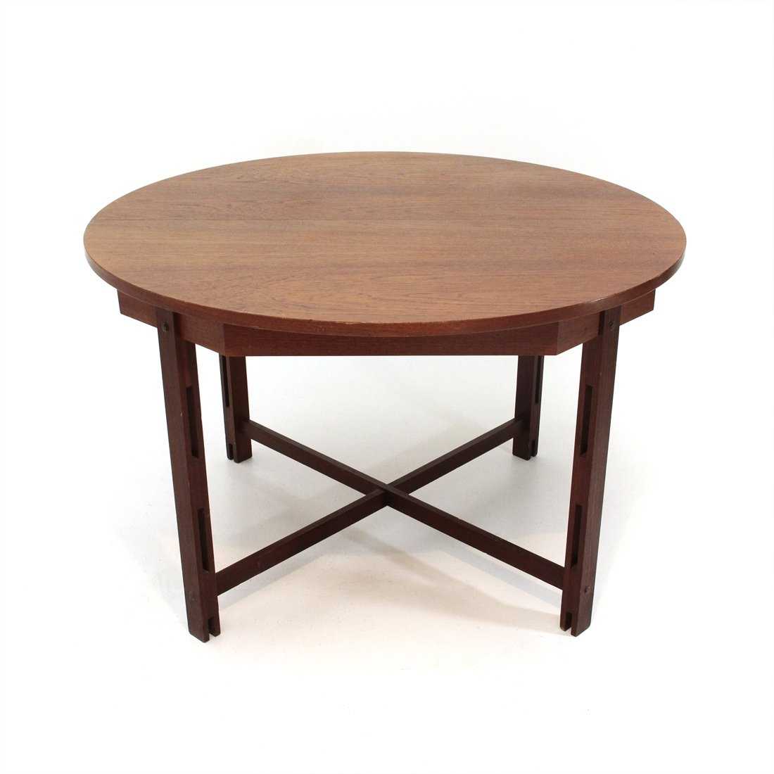 Picture of: Mid Century Modern Dining Table With Circular Top 1960s 91075