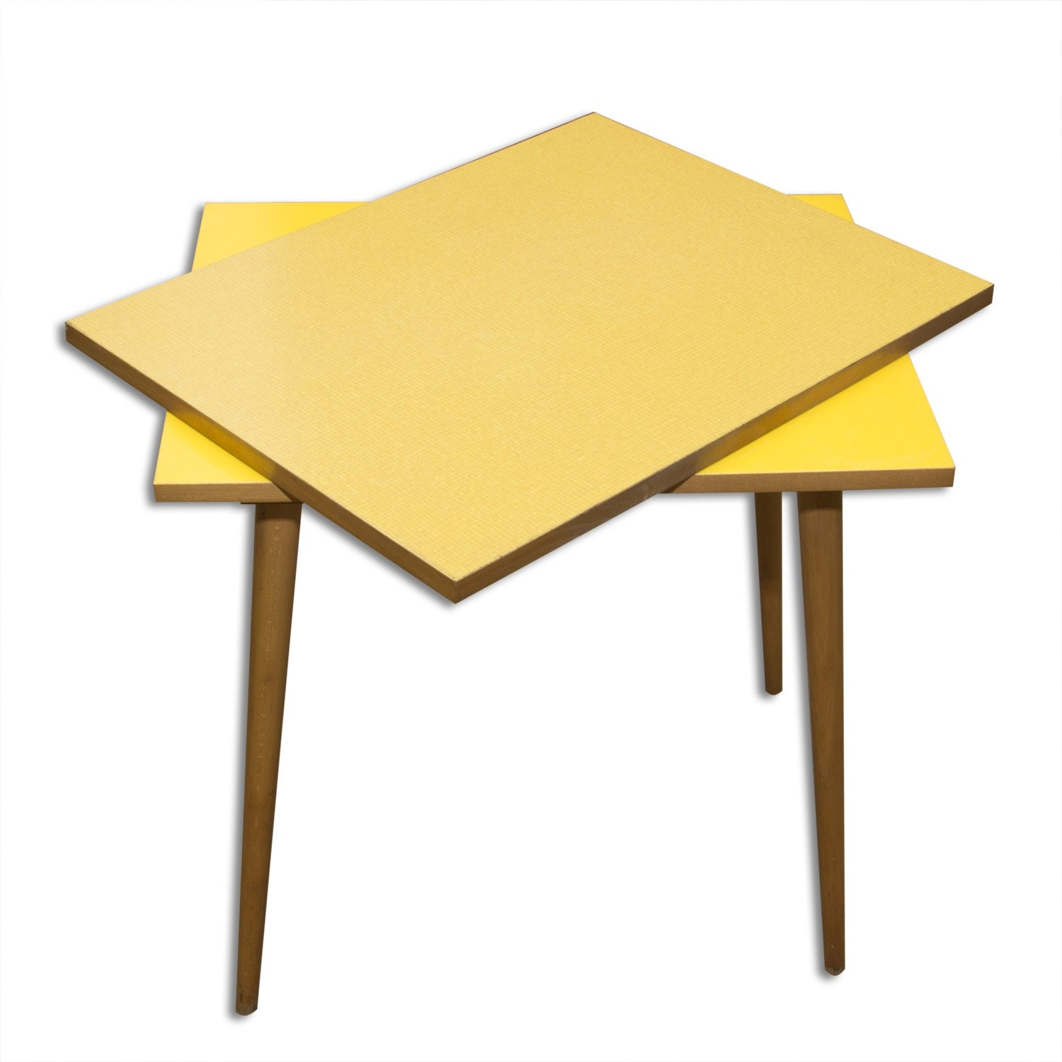 Mid Century Side Or Coffee Table With Rotating Plate Czechoslovakia 1960s