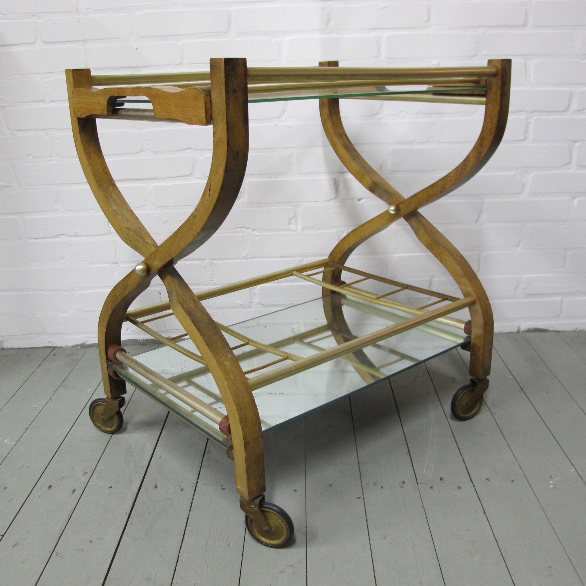 Vintage Bar Cart >> Vintage Bar Cart Serving Trolley 1960s