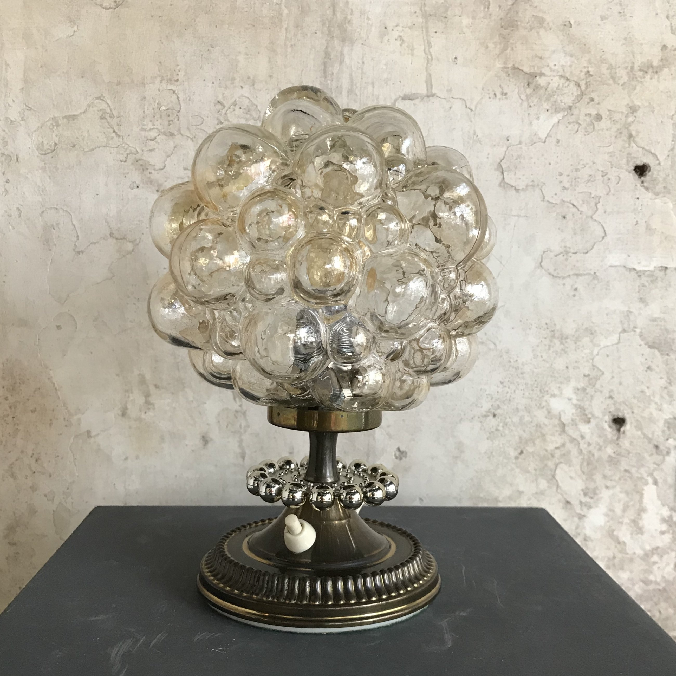 Mid Century Bubble Lamp By Helena Tynell For Glashutte Limburg 1960s 91388